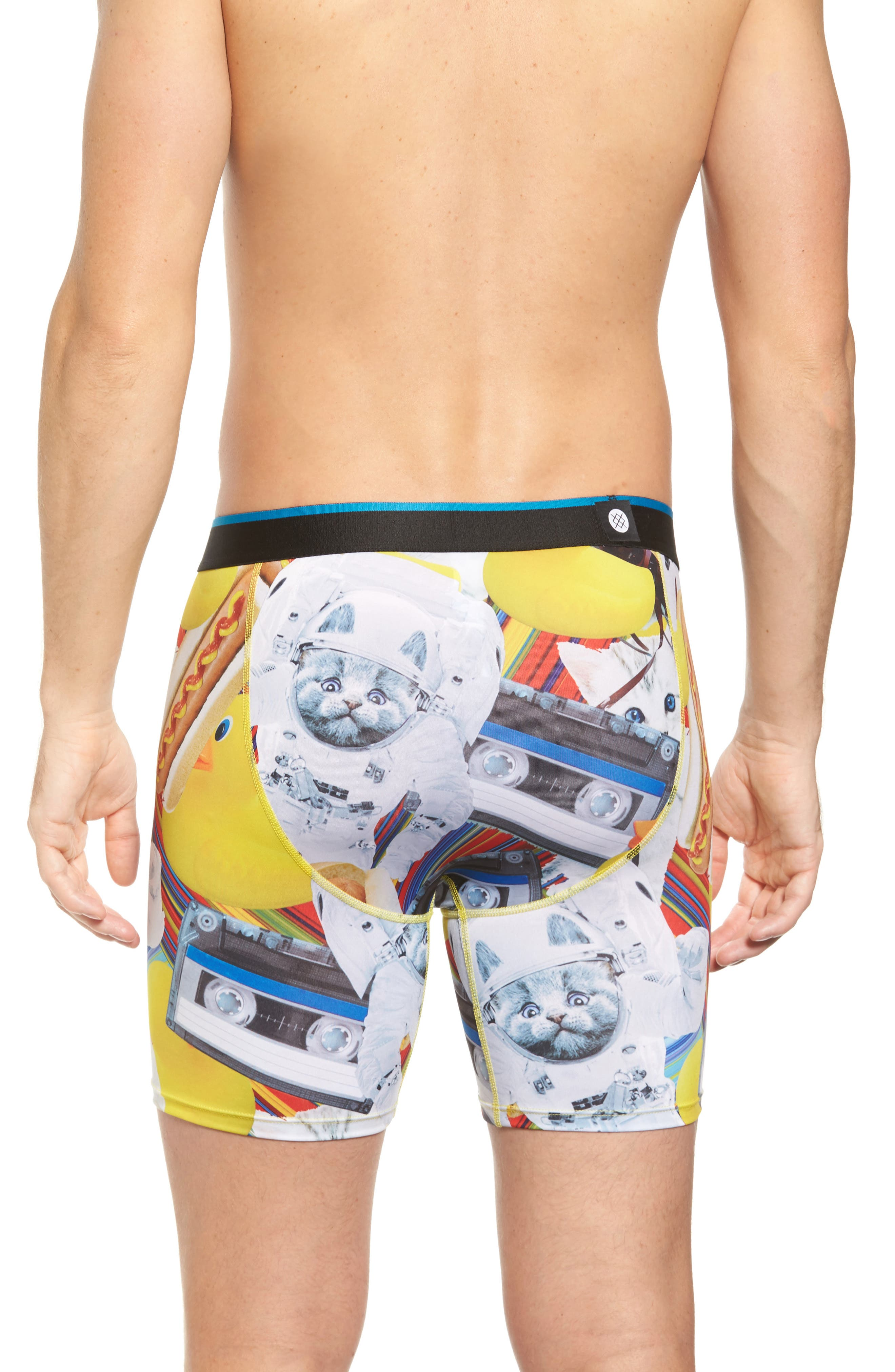 Castronaut Boxer Briefs,                             Alternate thumbnail 2, color,                             Yellow Multi