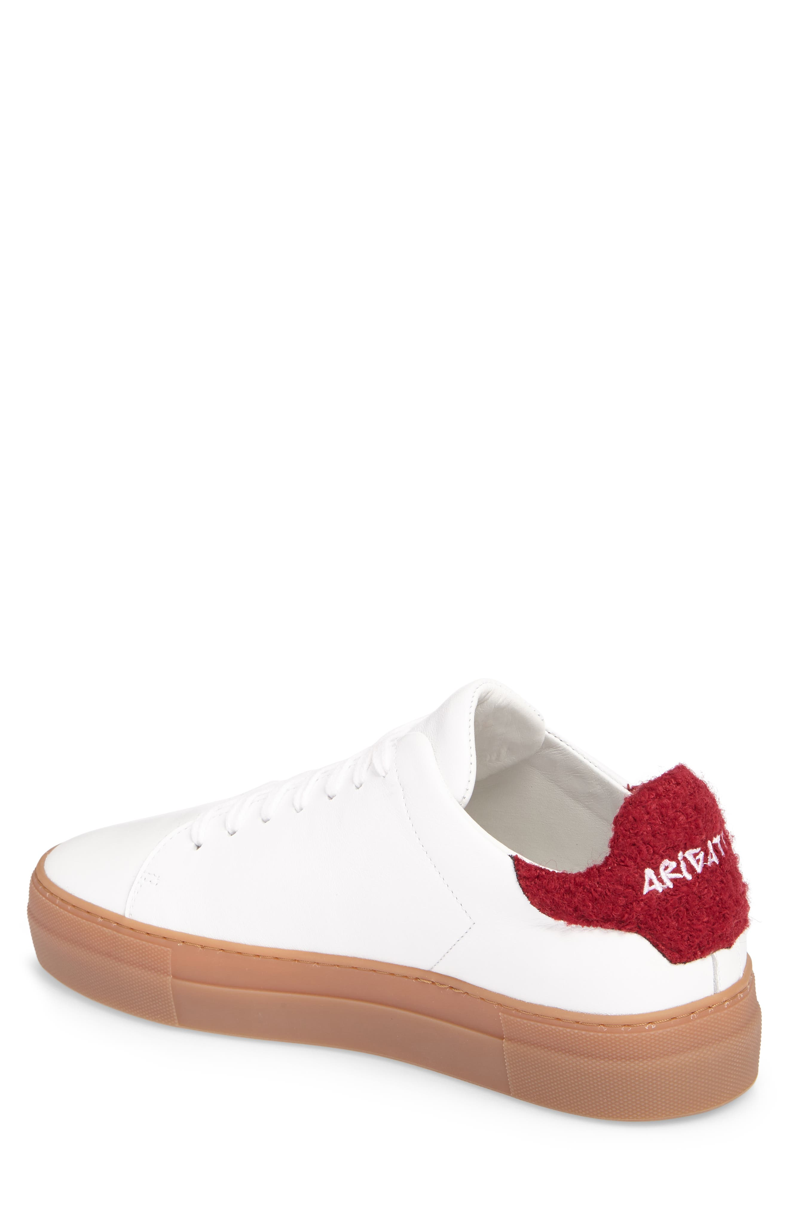 Clean 360 Fuzzy Heel Sneaker,                             Alternate thumbnail 2, color,                             White