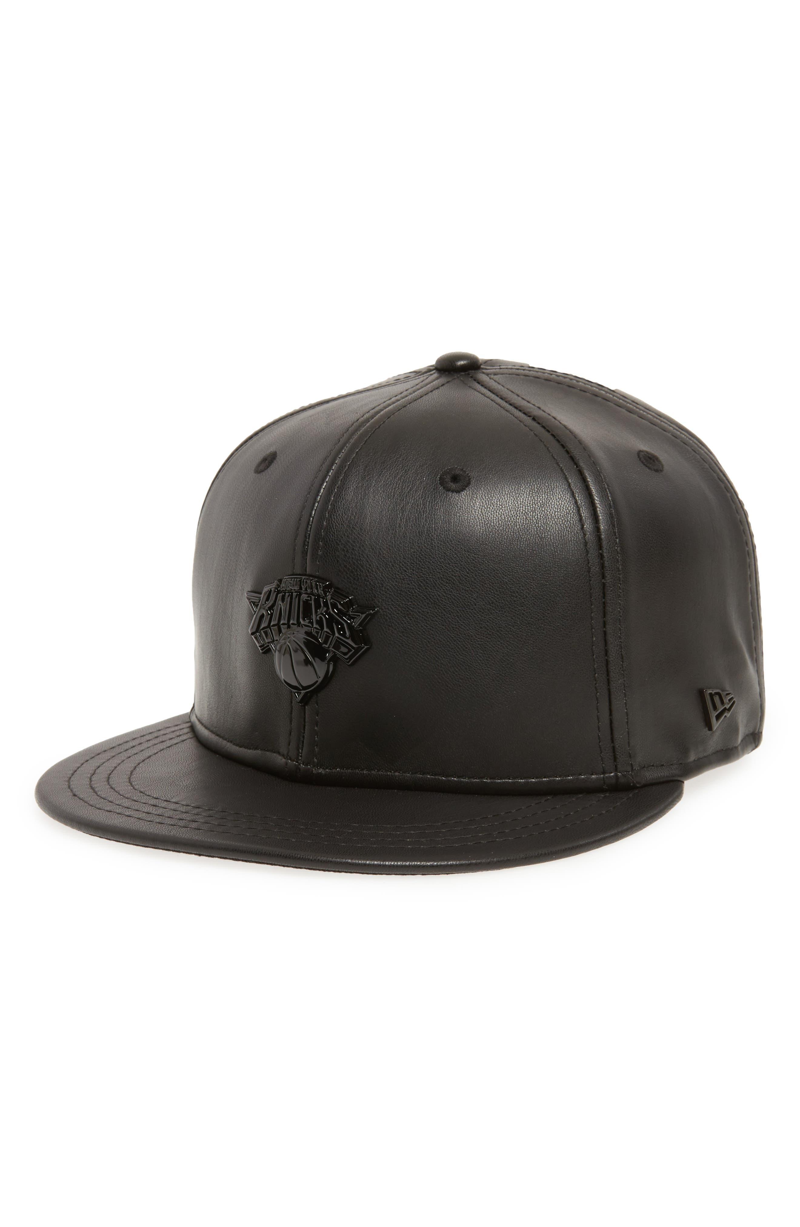 Main Image - New Era NBA Glossy Faux Leather Snapback Cap
