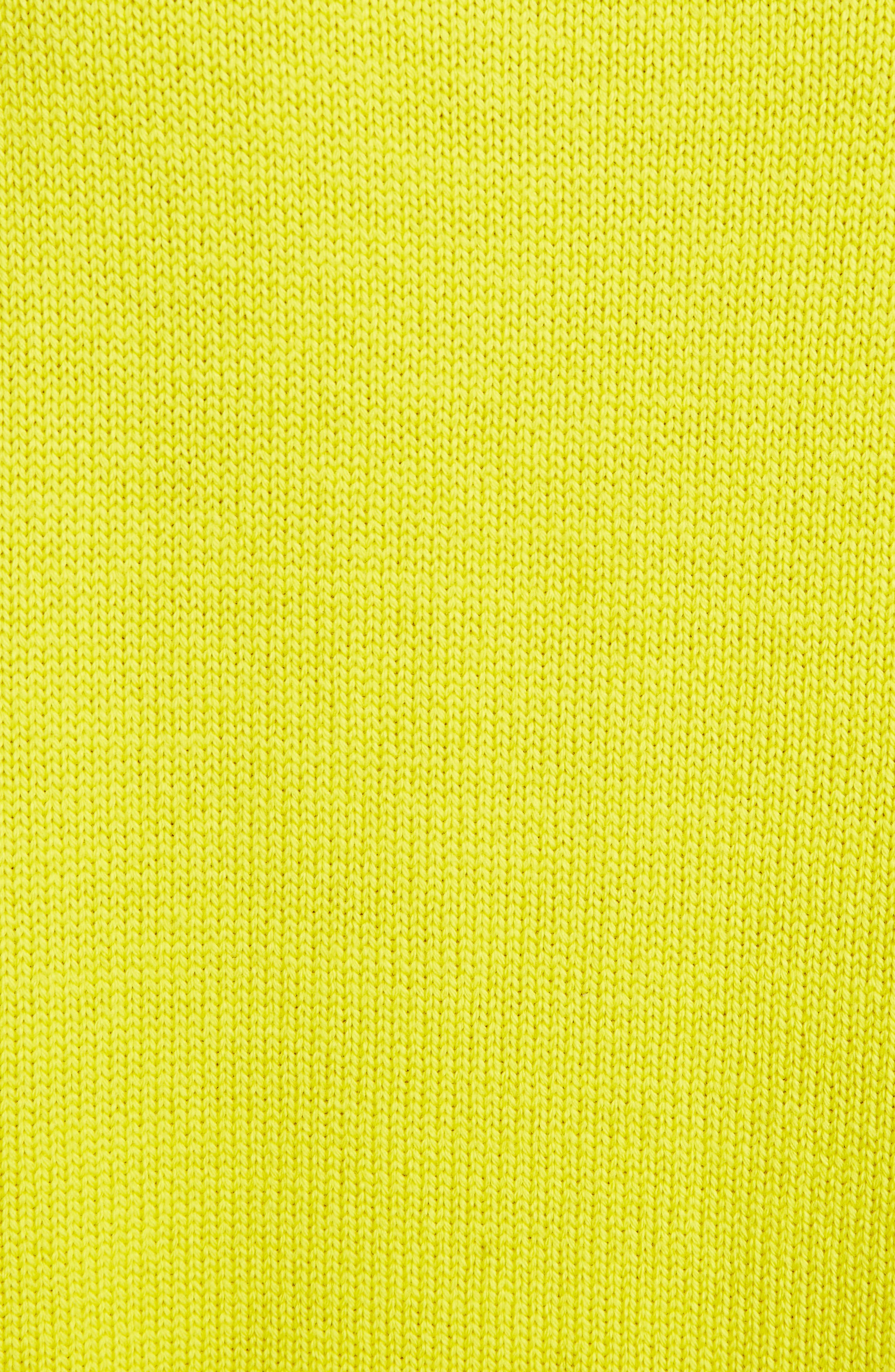 Lion Sweater,                             Alternate thumbnail 5, color,                             Yellow
