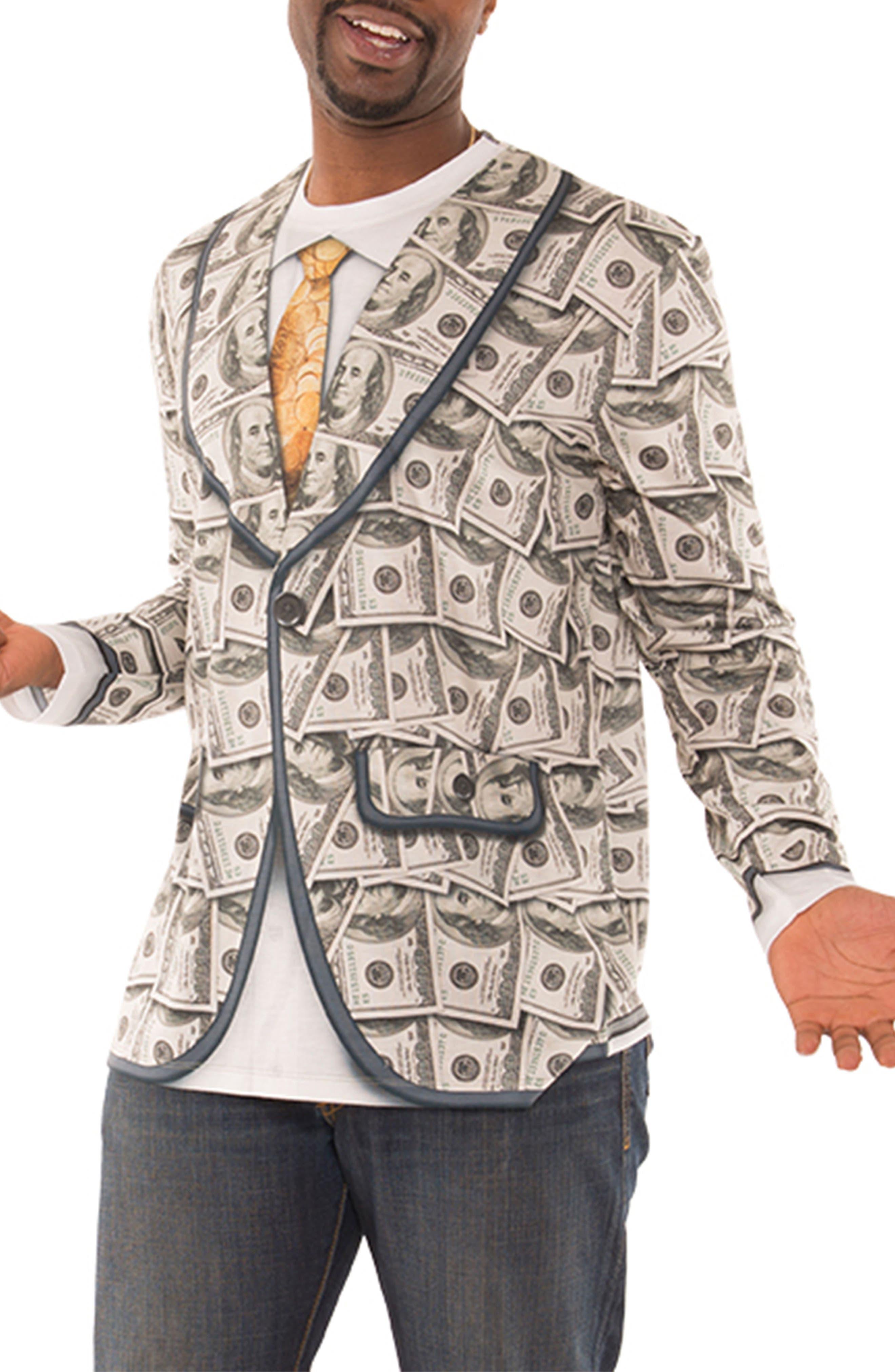Faux Real Money Suit Costume T-Shirt (Men)