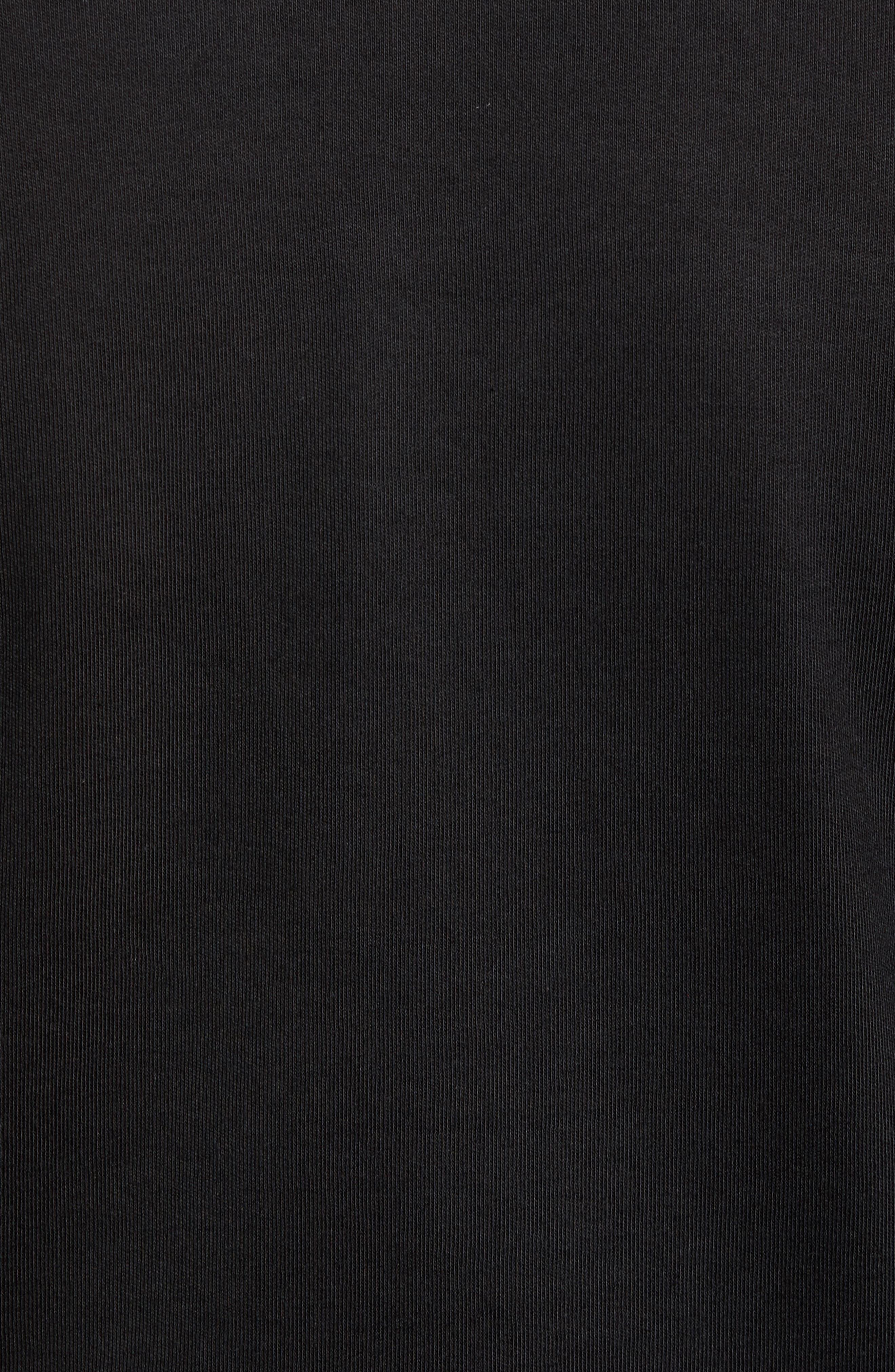 Interlock Knit Quarter Zip Pullover,                             Alternate thumbnail 5, color,                             Black