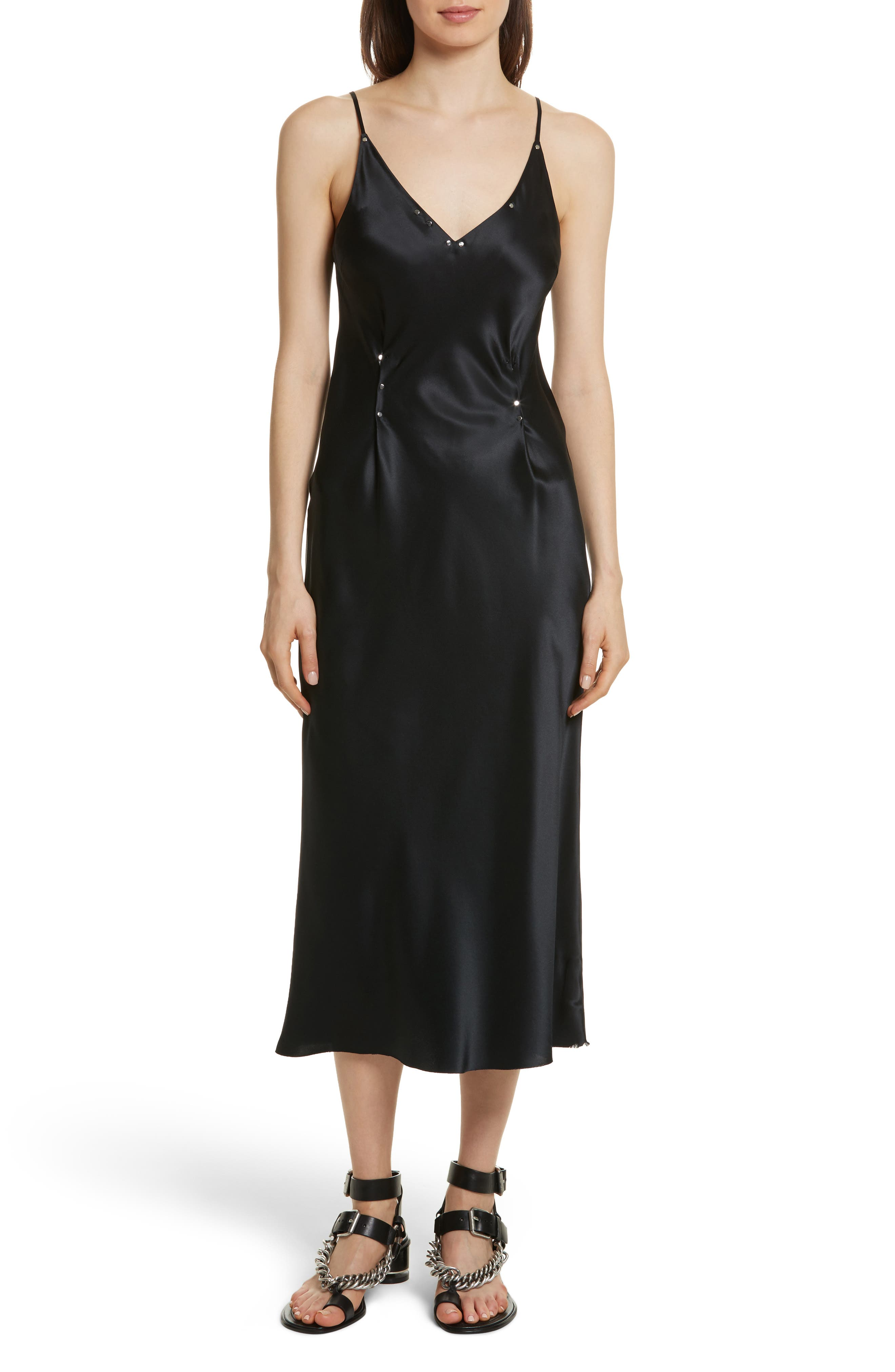 T by Alexander Wang Silk Charmeuse Slipdress