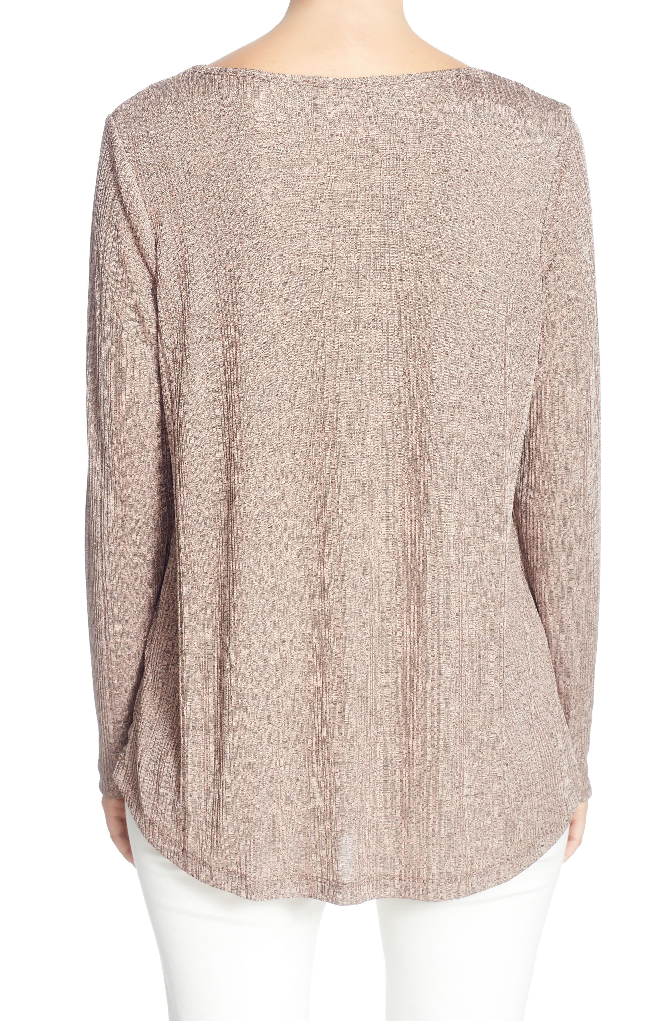 Alternate Image 2  - Catherine Catherine Malandrino Remi Metallic Knit Top