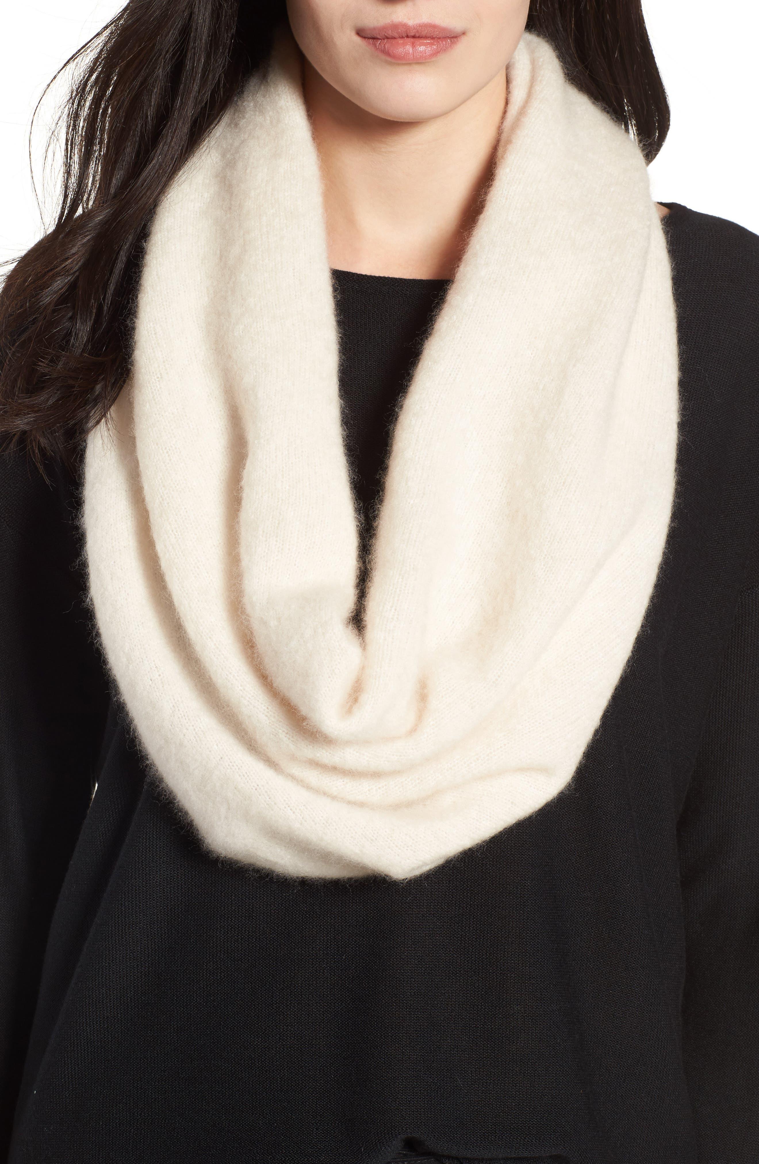 Cashmere Blend Cowl Scarf,                             Main thumbnail 1, color,                             Soft White