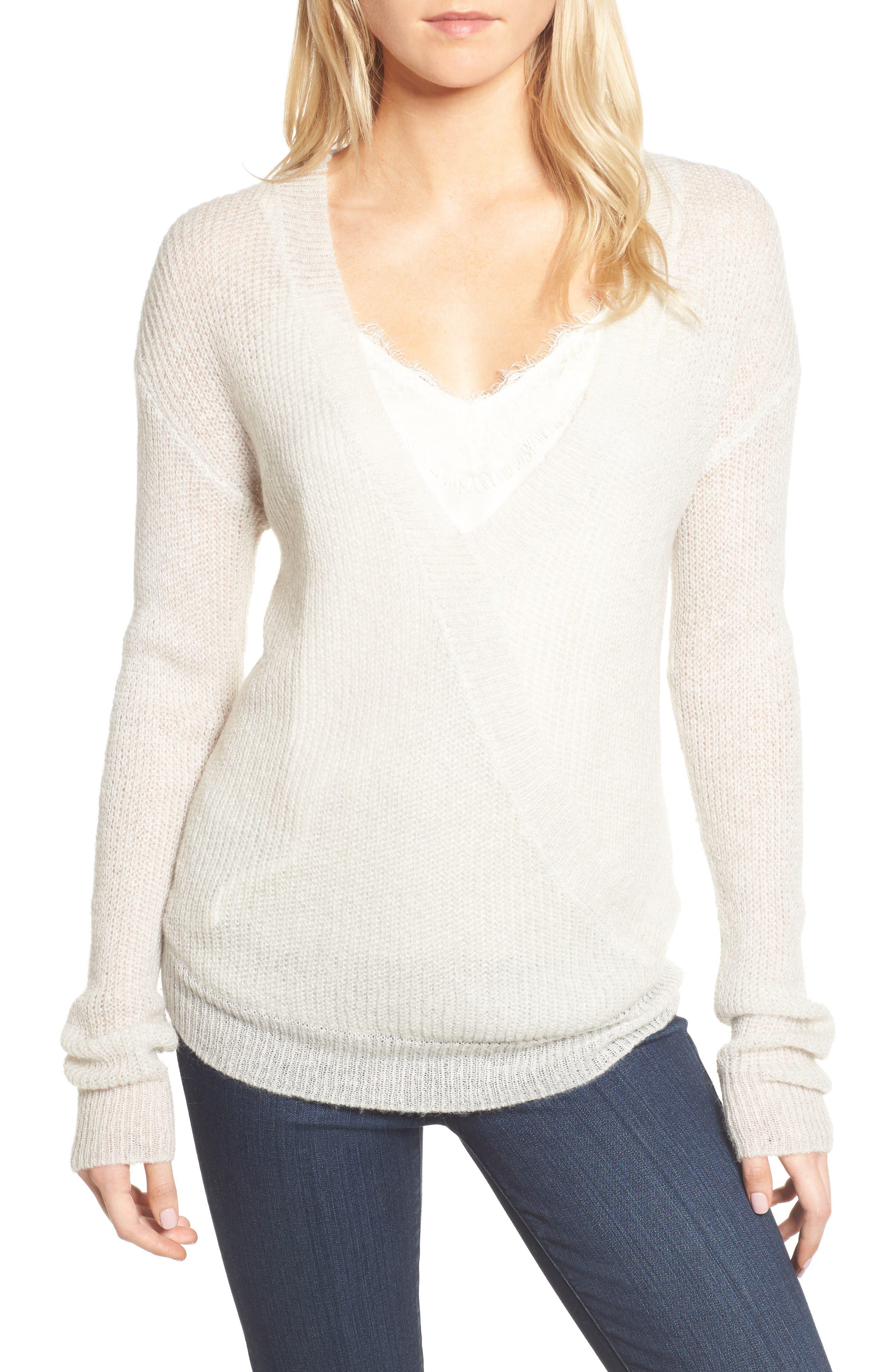 Sternberg V-Neck Sweater,                         Main,                         color, Heather Ash