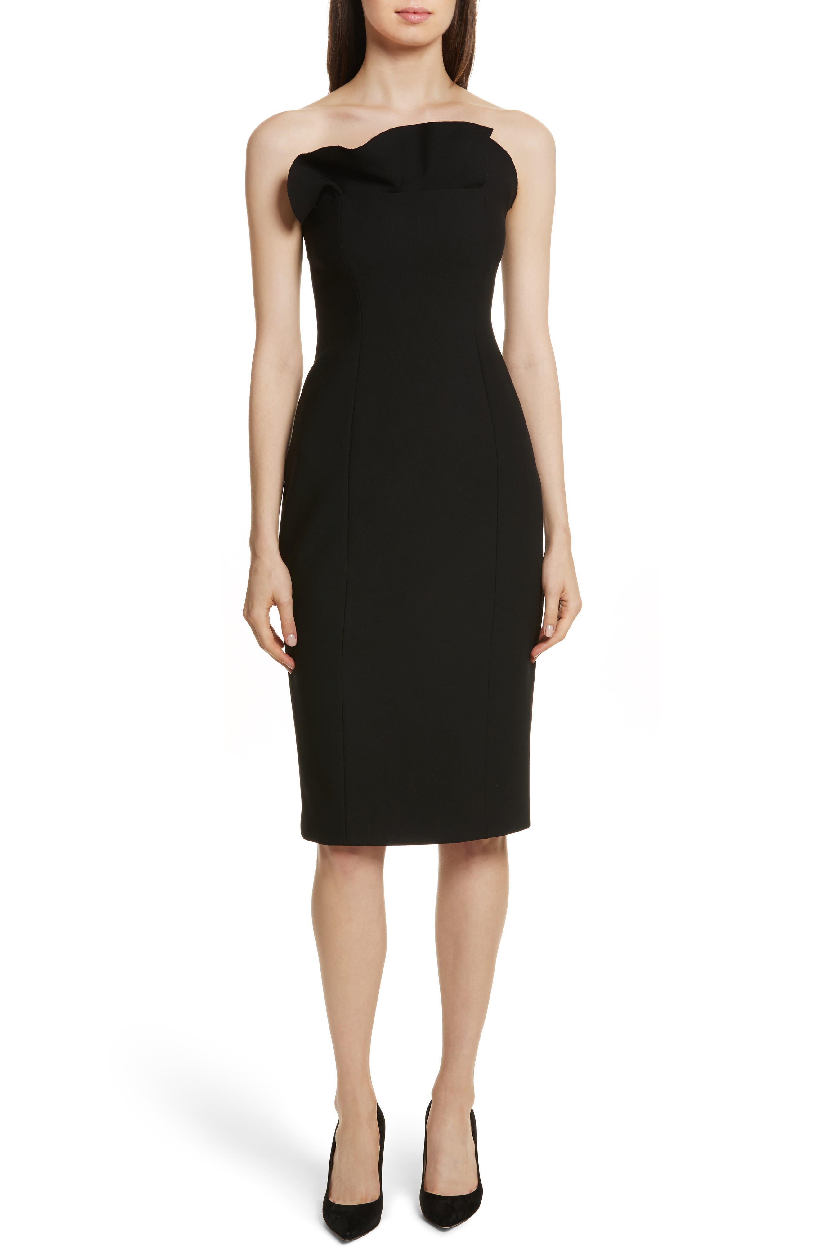Jolie Marceau Strapless Dress,                             Main thumbnail 1, color,                             Black