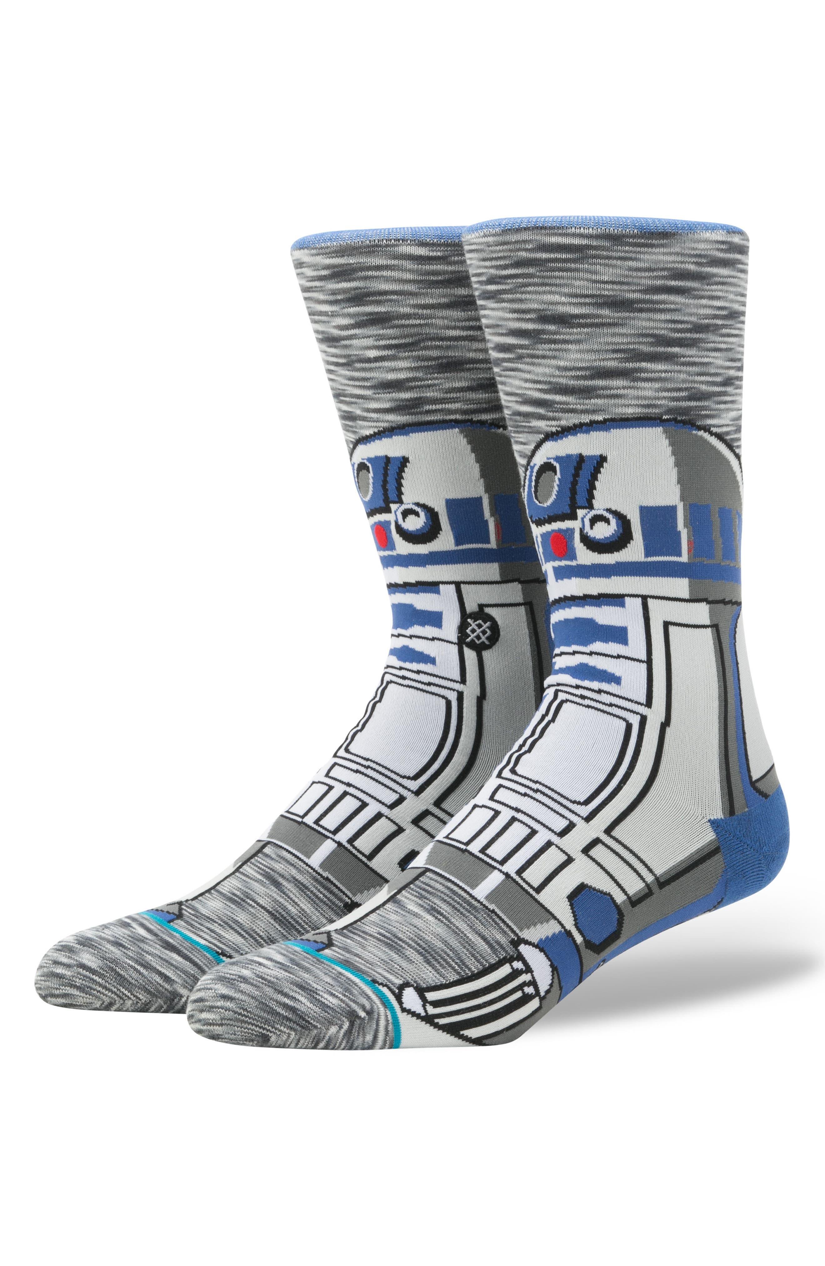 Star Wars<sup>™</sup> - R2D2 Socks,                             Main thumbnail 1, color,                             Grey