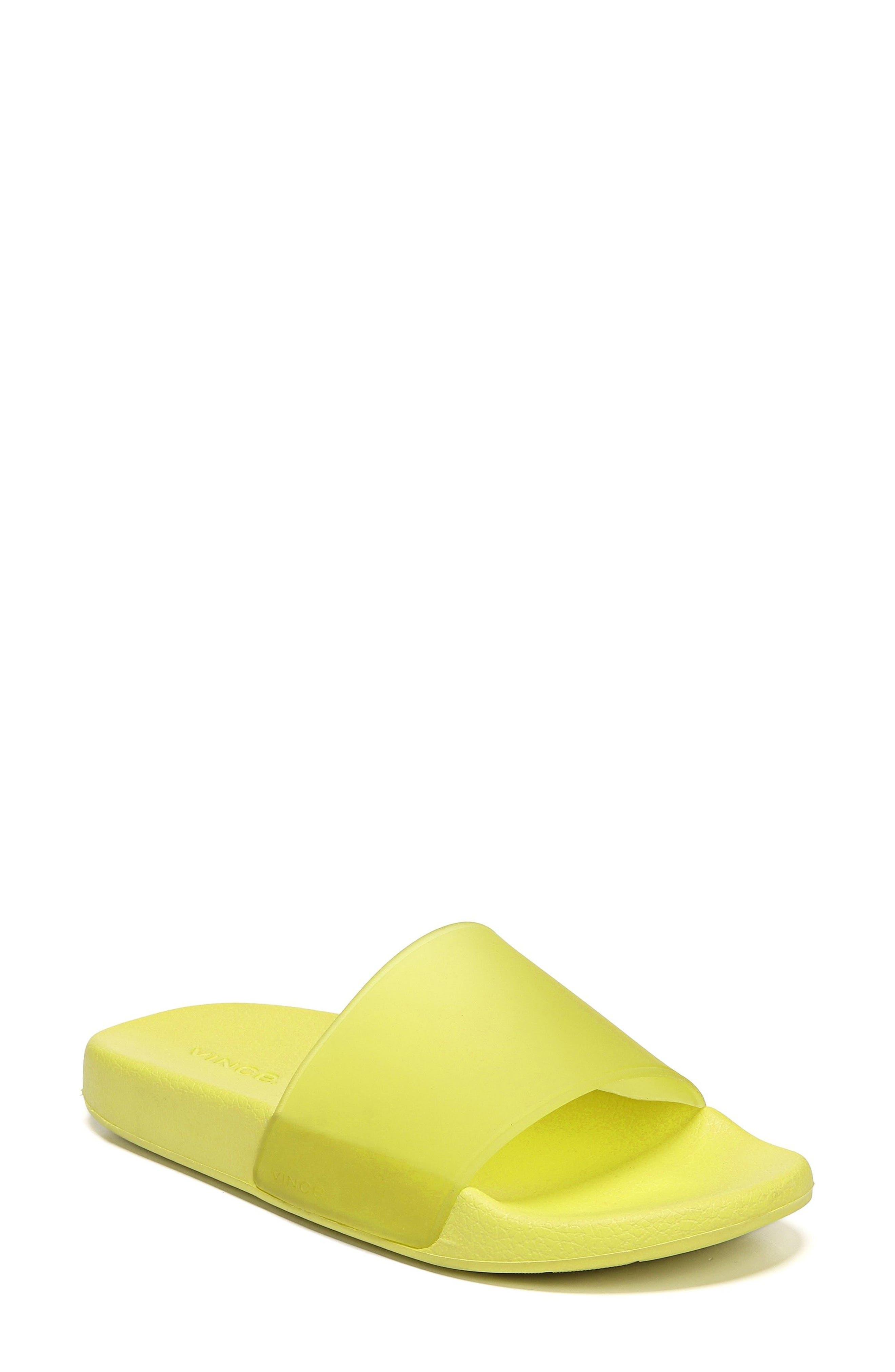 Westcoast Slide Sandal,                         Main,                         color, Citron
