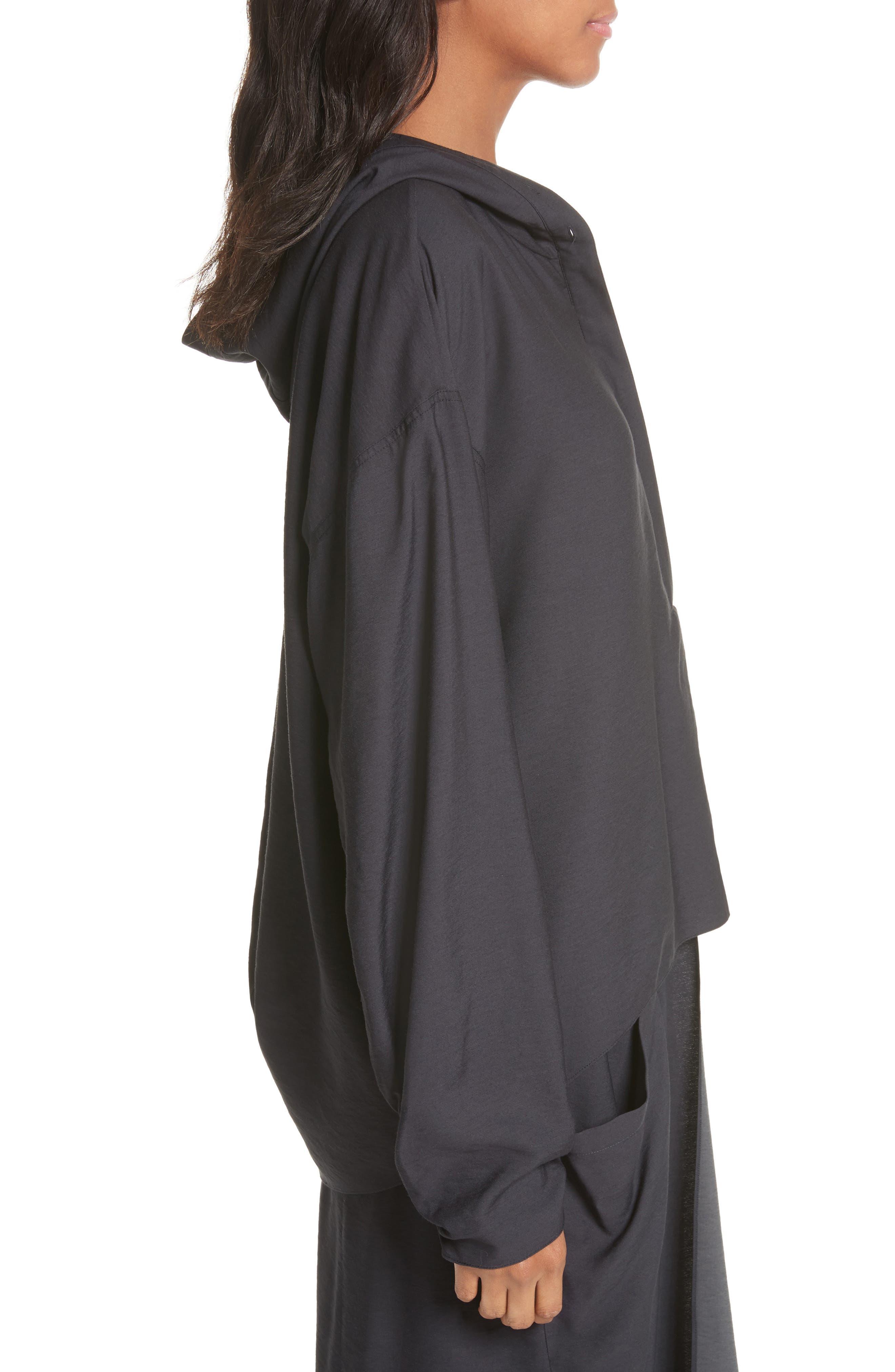 Hooded Tunic,                             Alternate thumbnail 3, color,                             Black