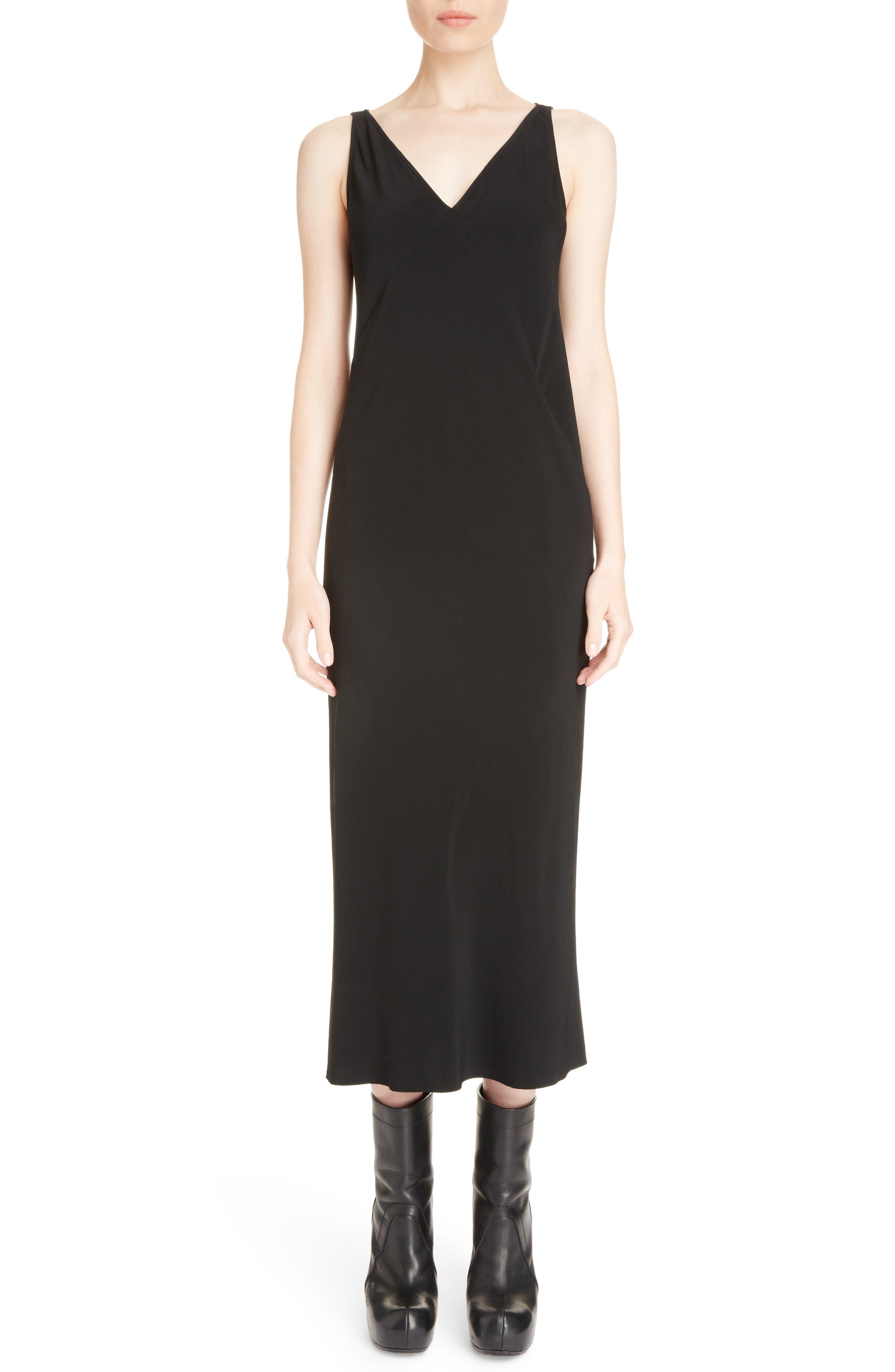 Cady Midi Dress,                             Main thumbnail 1, color,                             Black