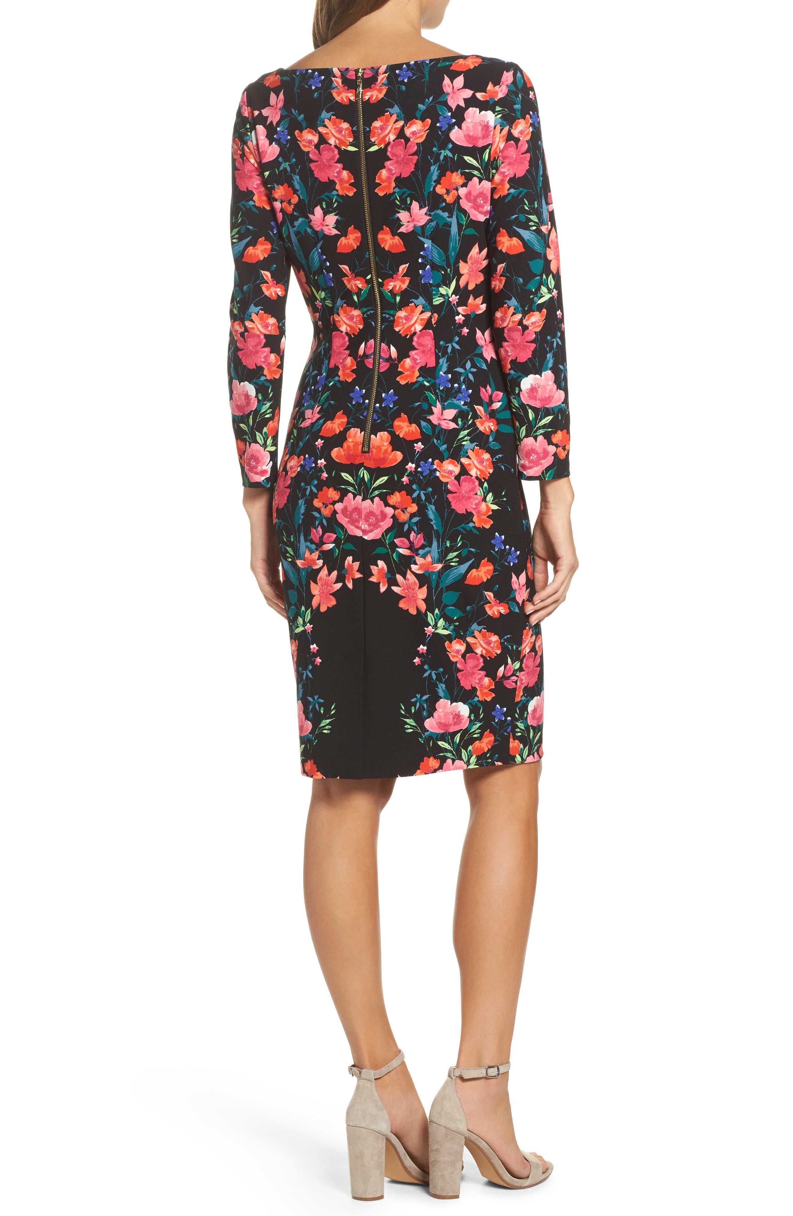 Alternate Image 2  - Eliza J Crepe Sheath Dress