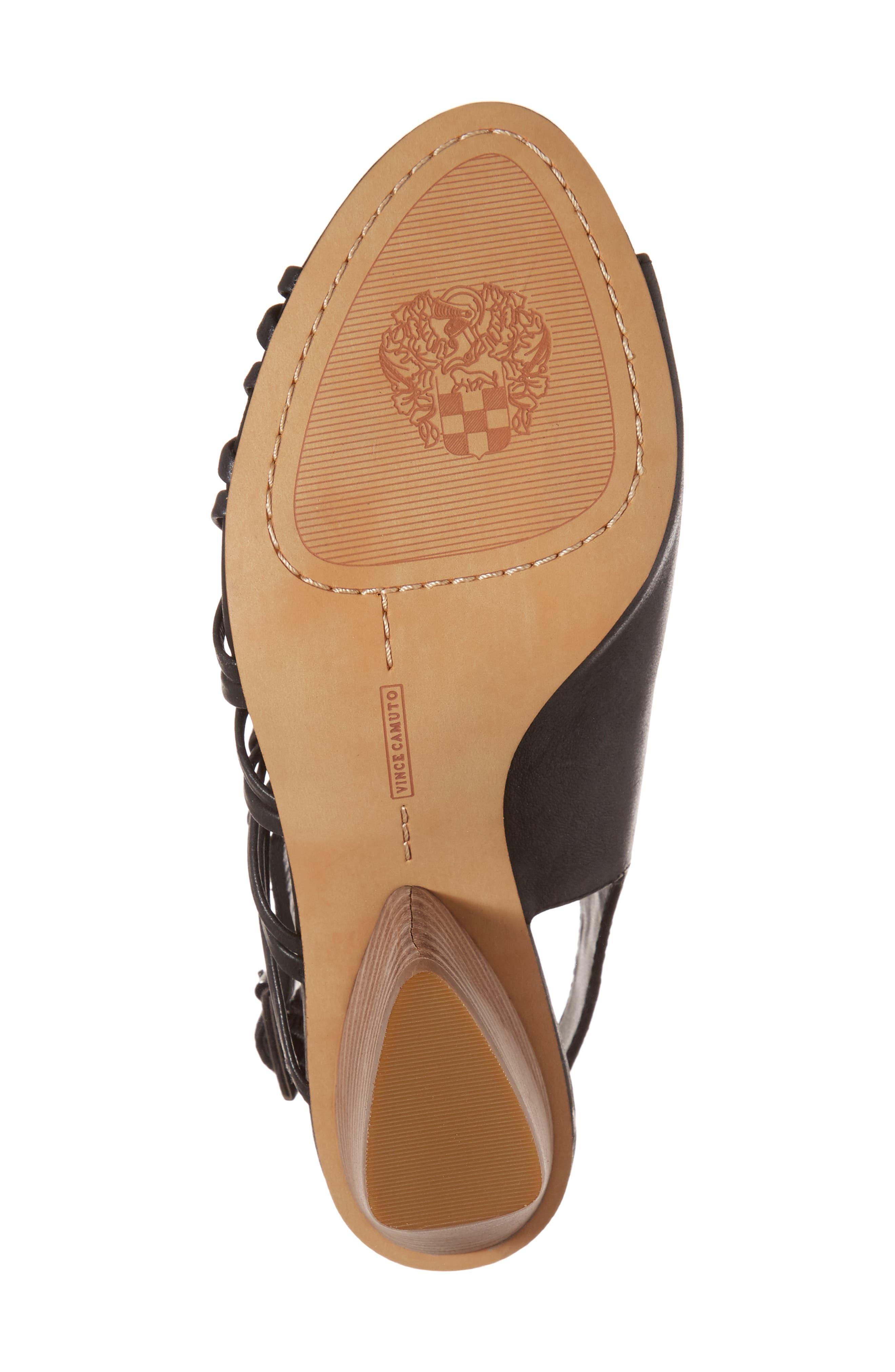 Ankara Sandal,                             Alternate thumbnail 6, color,                             Black Leather