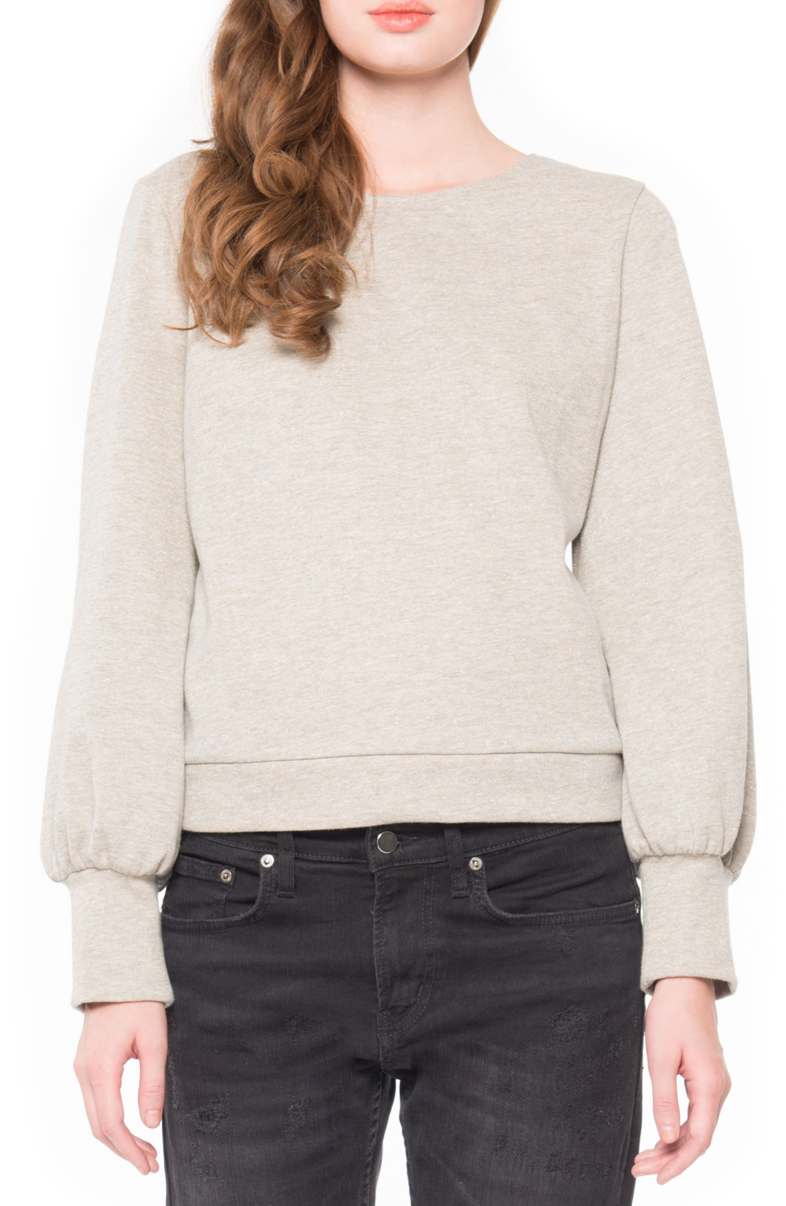 Alternate Image 1 Selected - Willow & Clay Tie Back Sweatshirt