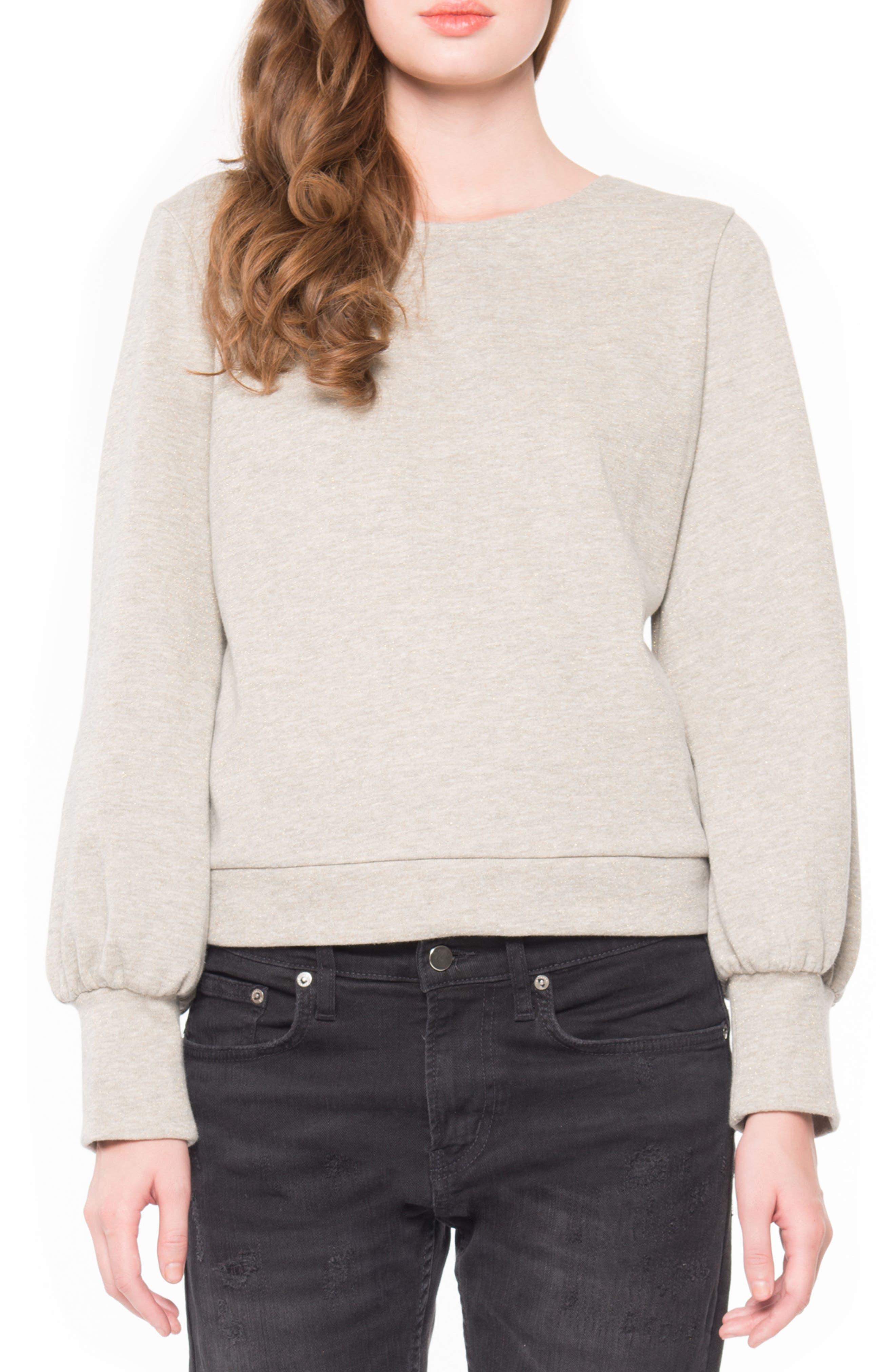 Main Image - Willow & Clay Tie Back Sweatshirt