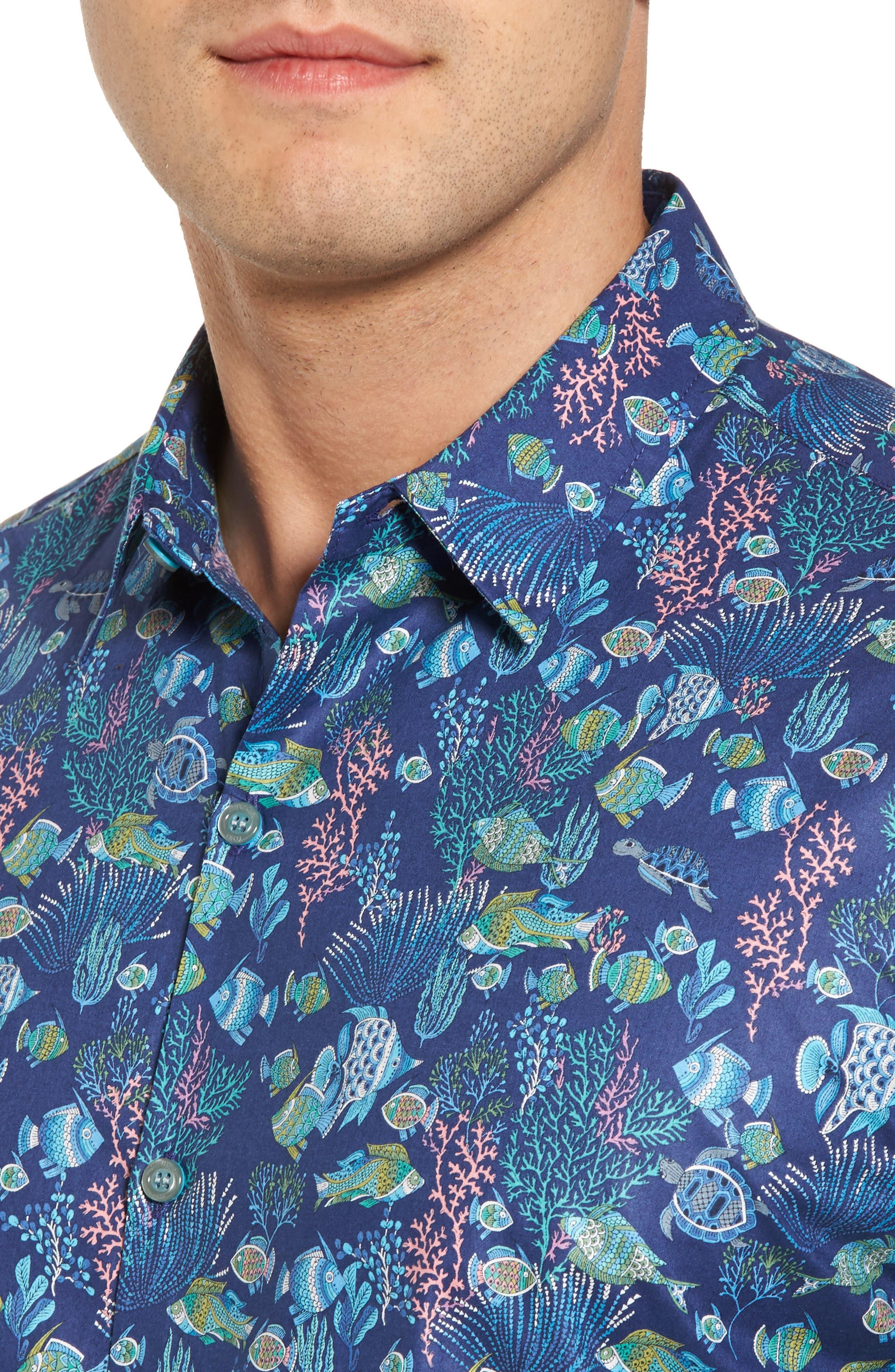 Alternate Image 4  - Tori Richard Aquaculture Slim Fit Camp Shirt