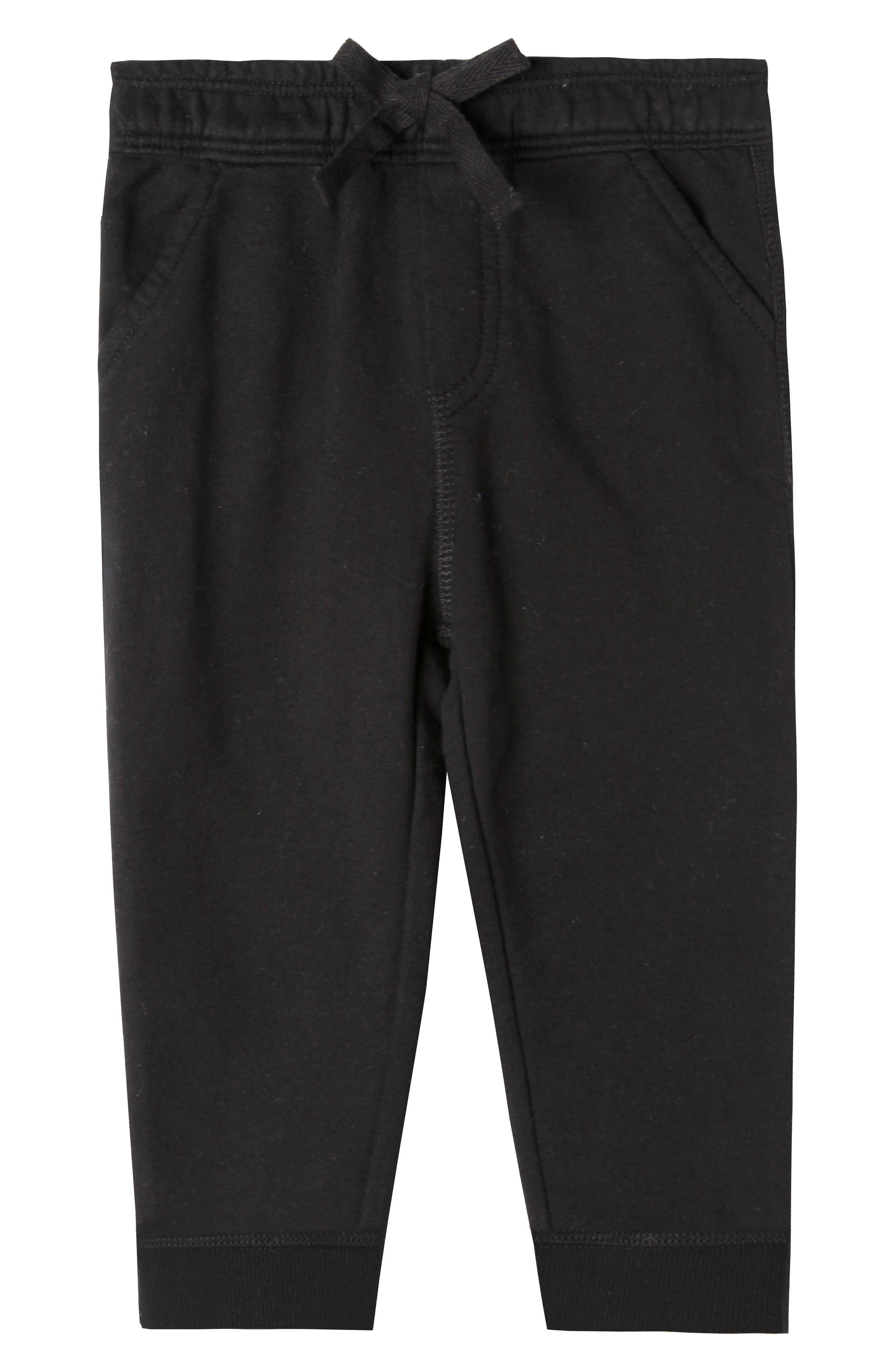Joseph Organic Cotton Pants,                             Main thumbnail 1, color,                             Black