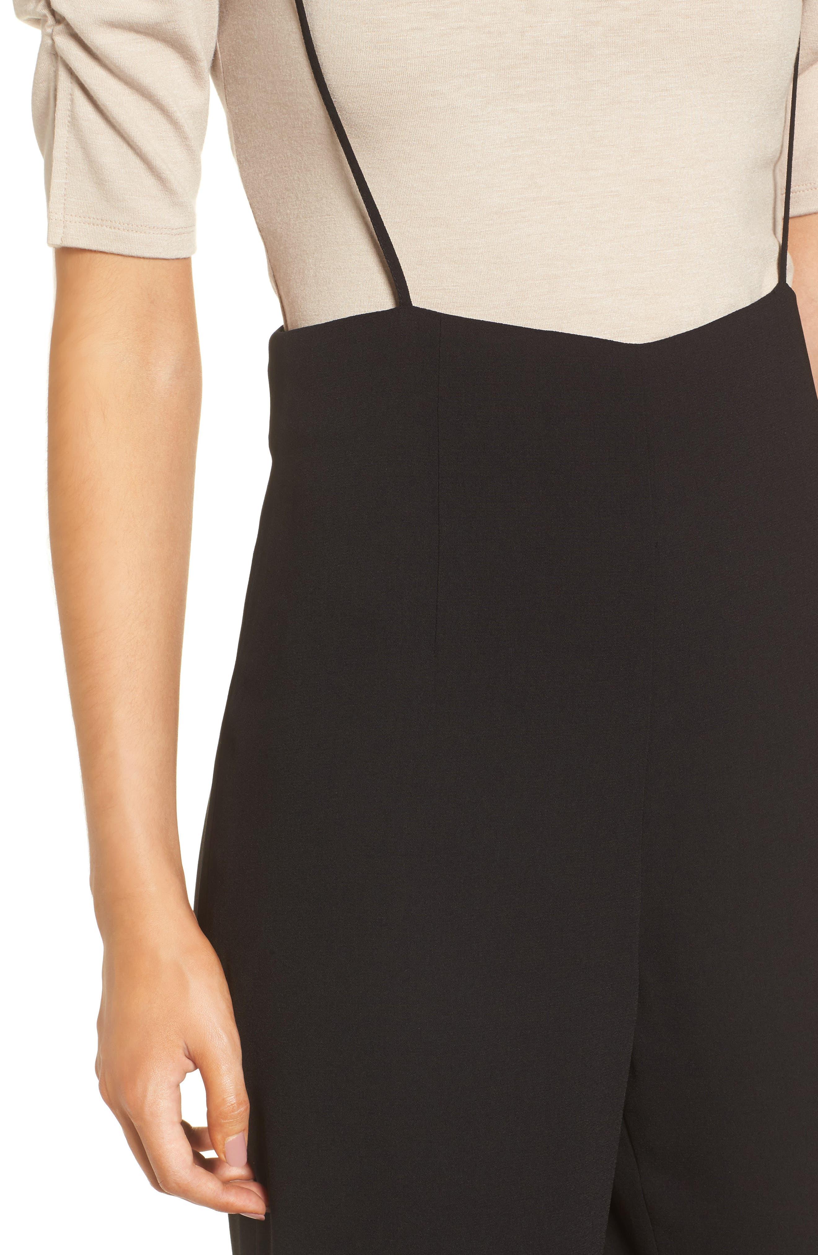 Suspender Pants,                             Alternate thumbnail 4, color,                             Black
