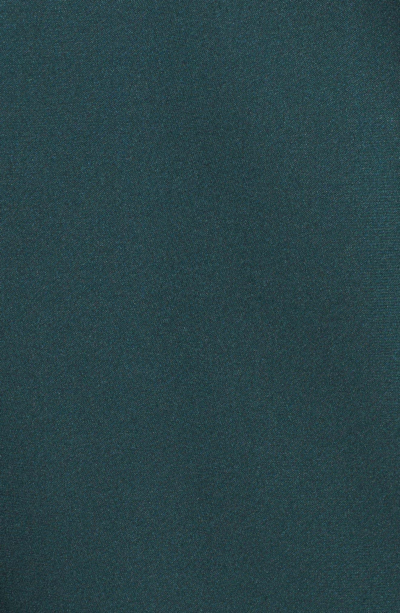 Isamara Stretch Silk Top,                             Alternate thumbnail 5, color,                             Peacock Green