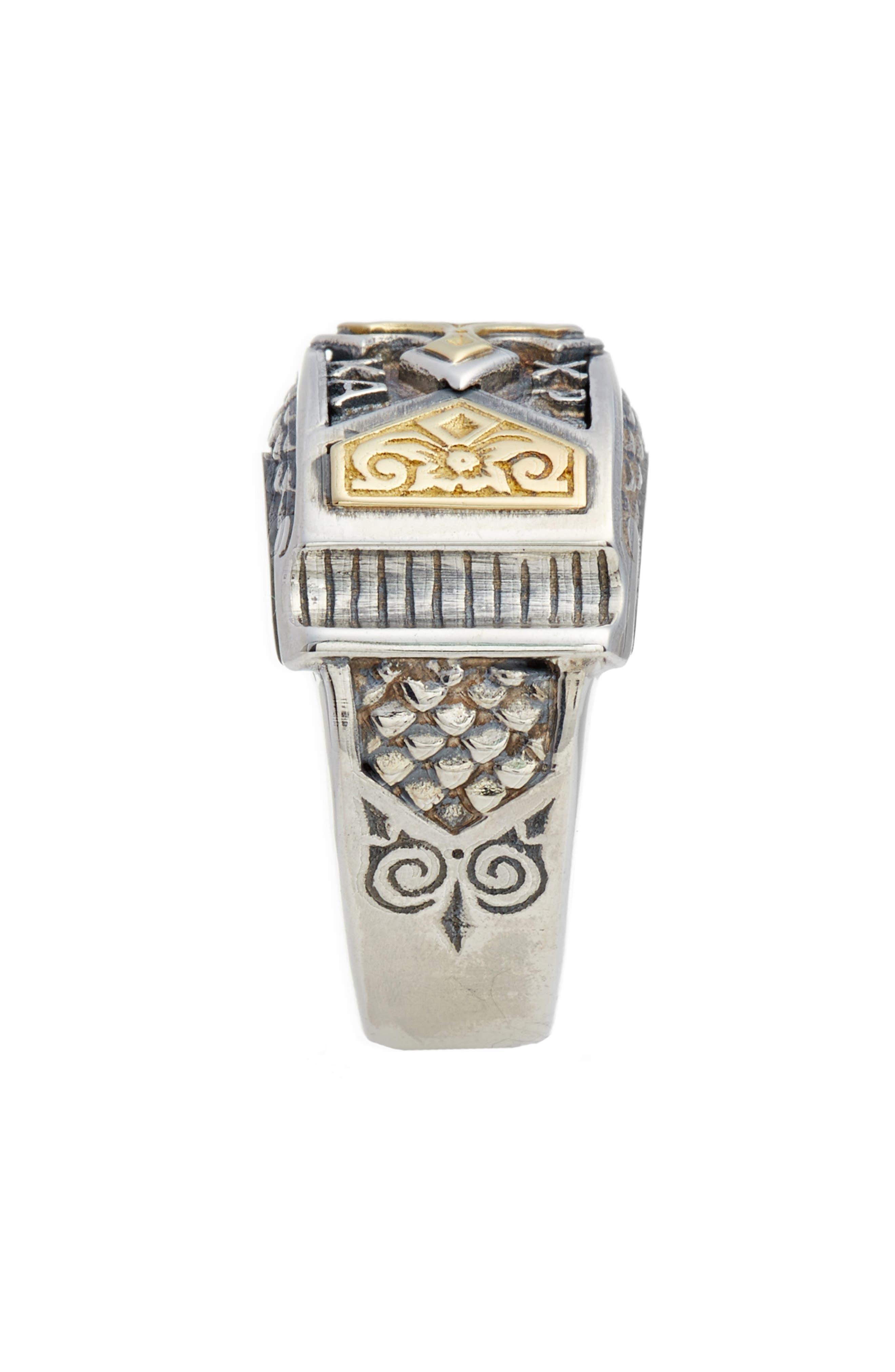 Heonos Band Ring,                             Alternate thumbnail 2, color,                             Silver/ Gold