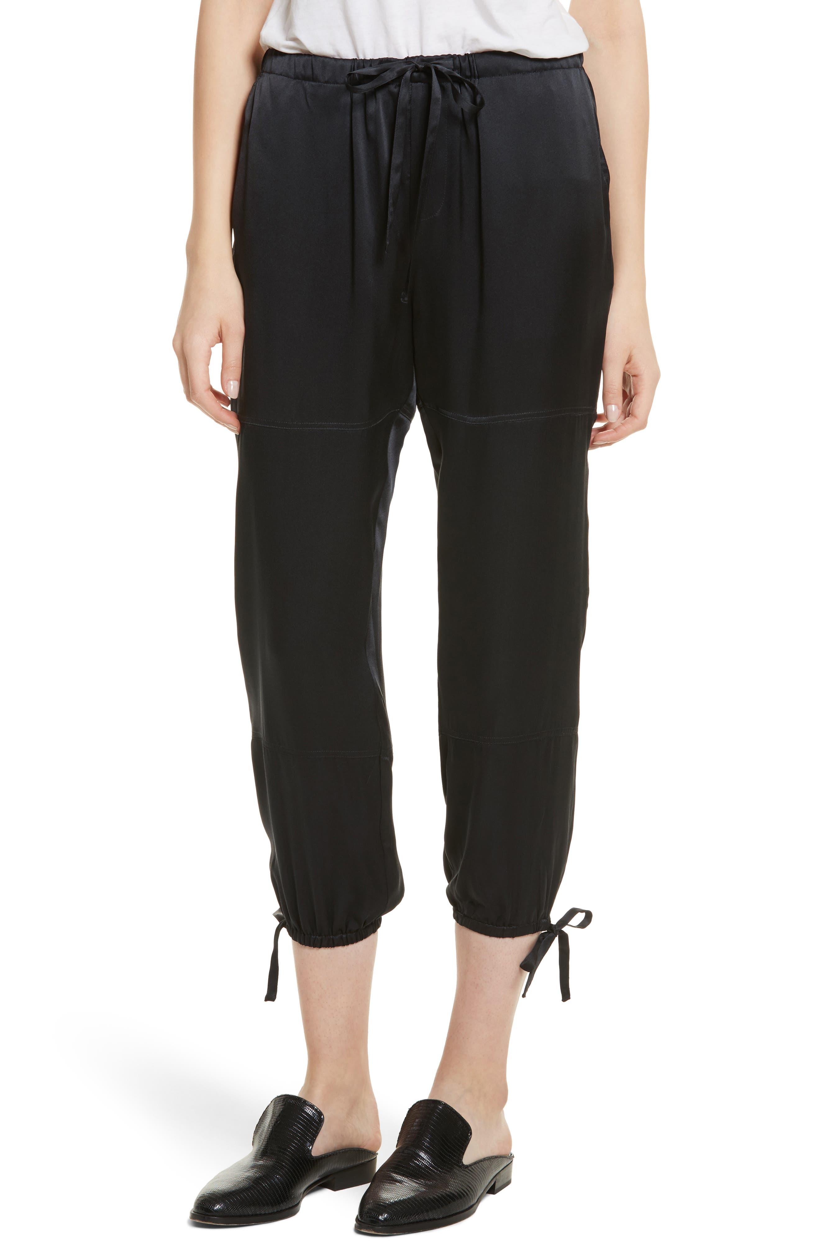 Dyre D Silk Jogger Pants,                         Main,                         color, Caviar