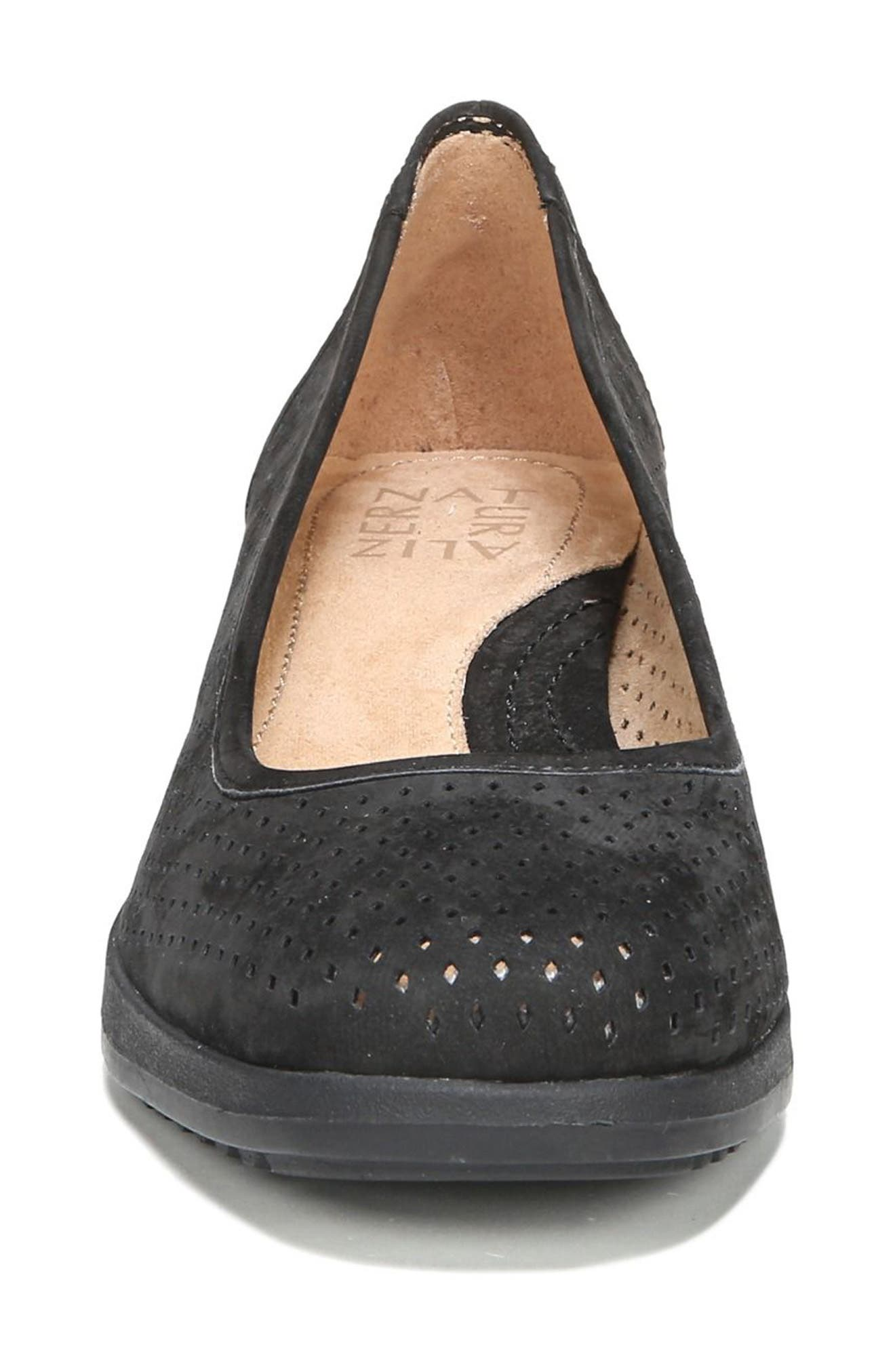 Betina II Wedge,                             Alternate thumbnail 4, color,                             Black Leather