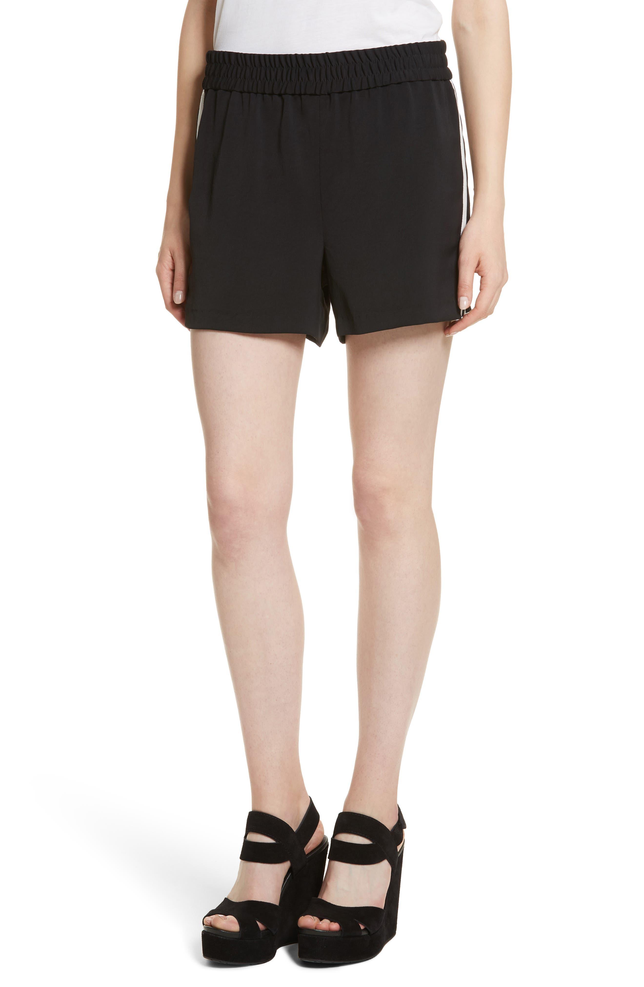 Ludlow Striped Shorts,                         Main,                         color, Black/ White