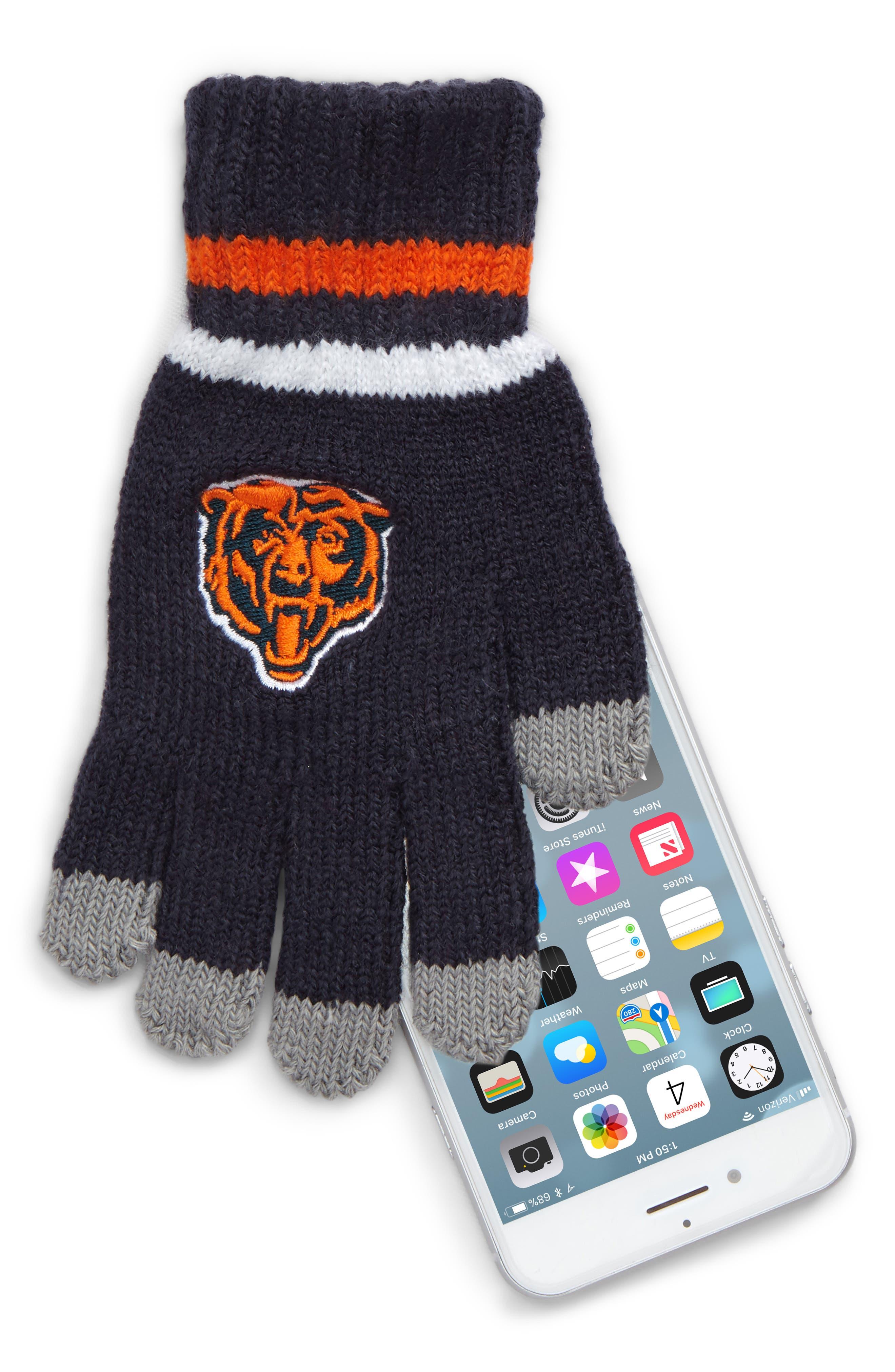 NFL Logo Pom Beanie & Tech Gloves Set,                             Alternate thumbnail 2, color,                             Bears