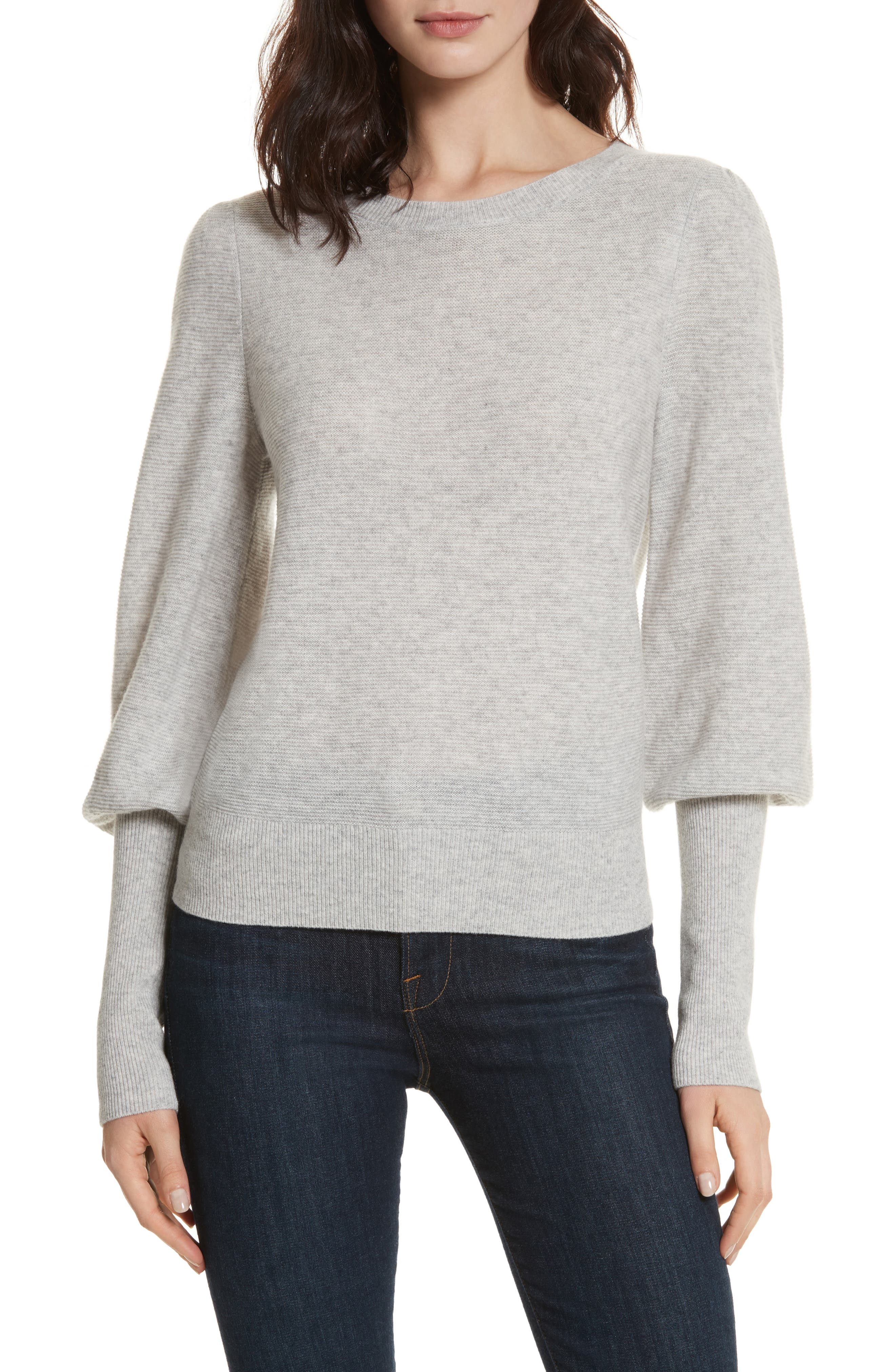 Noely Wool and Cashmere Sweater,                             Main thumbnail 1, color,                             Light Heather Grey