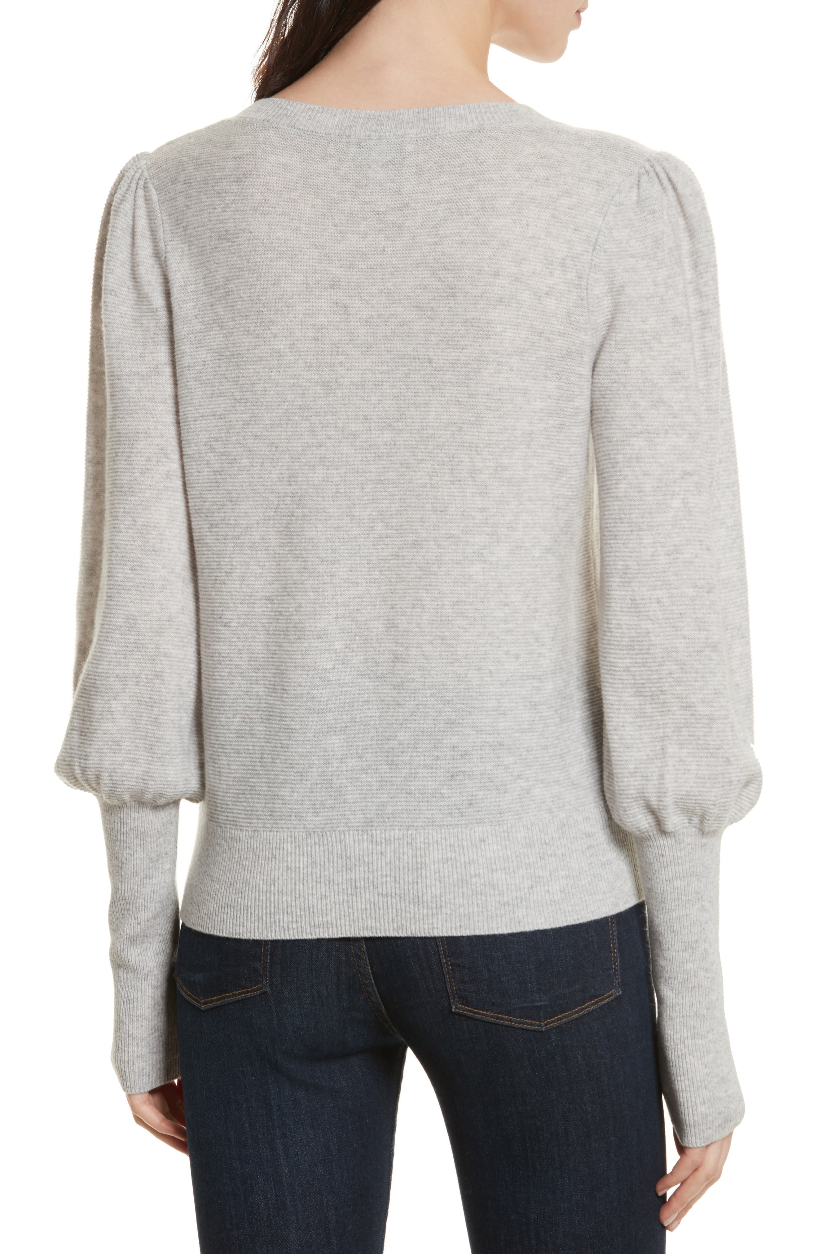Noely Wool and Cashmere Sweater,                             Alternate thumbnail 2, color,                             Light Heather Grey