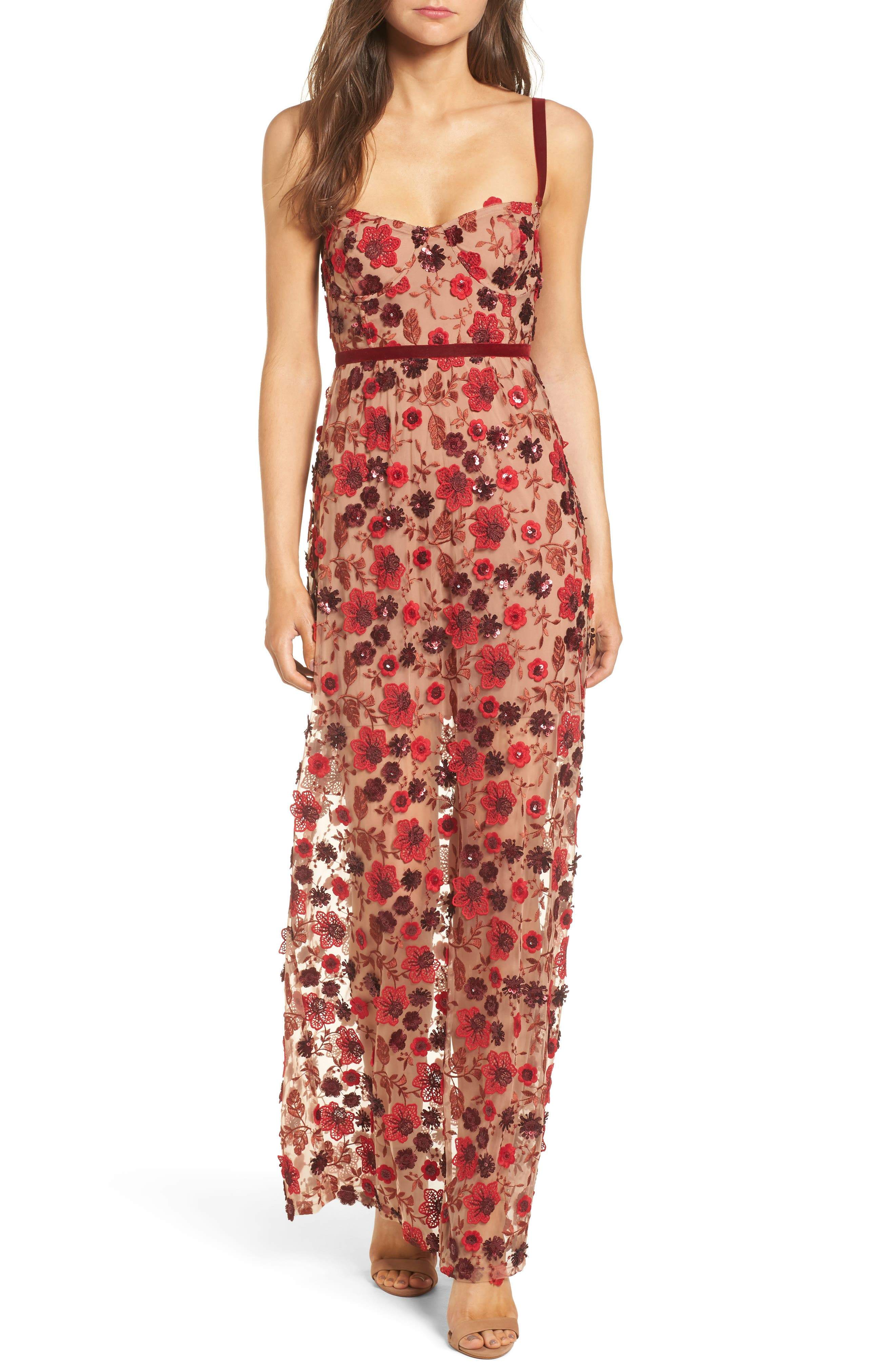 For Love & Lemons Beatrice Convertible Maxi Dress