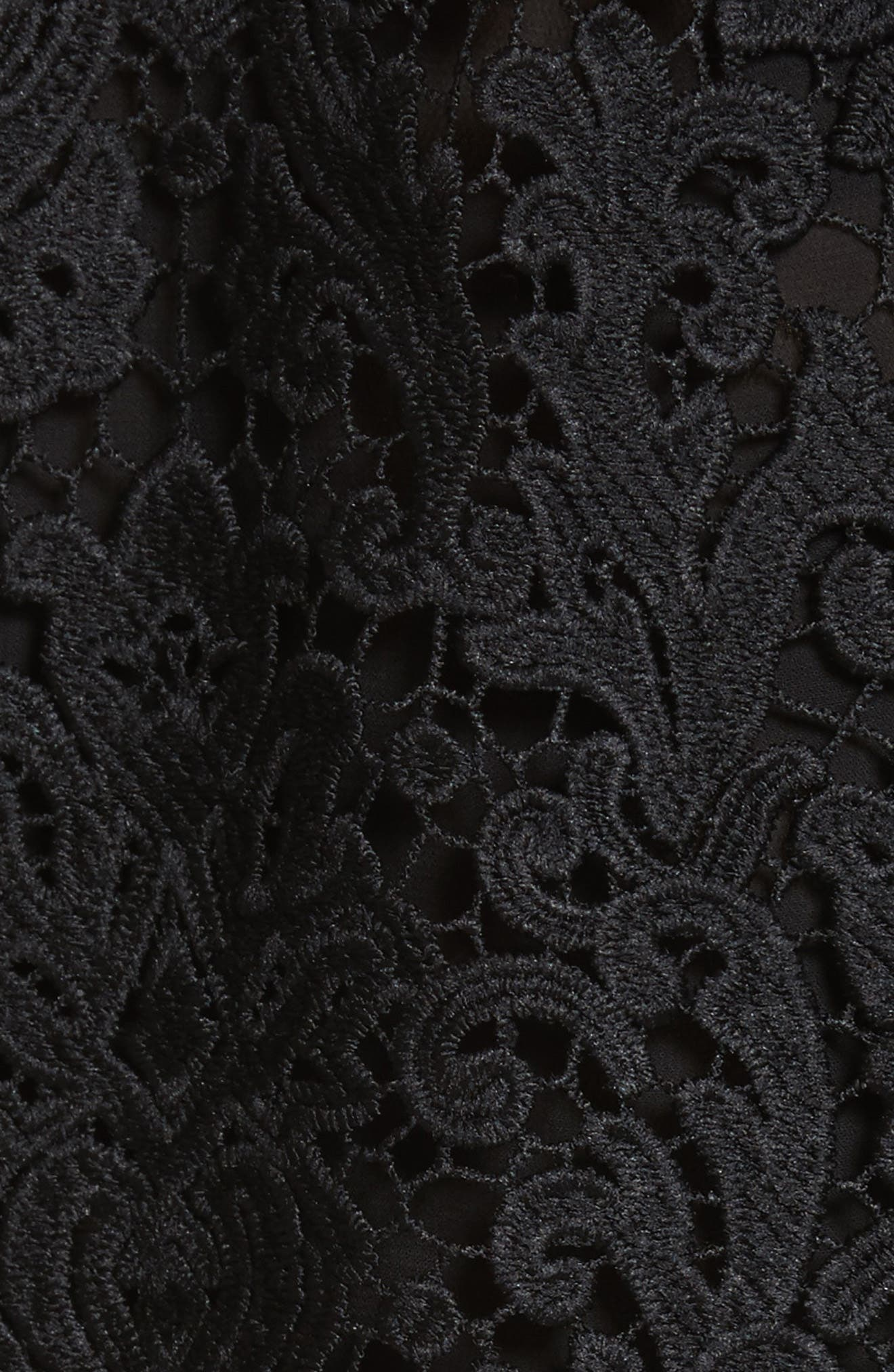 kate spade tapestry lace top,                             Alternate thumbnail 5, color,                             Black