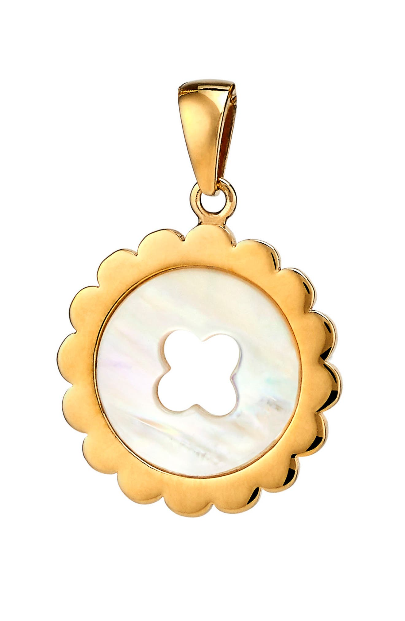 Quinn Mother-of-Pearl Charm,                             Main thumbnail 1, color,                             Gold - Mother Of Pearl