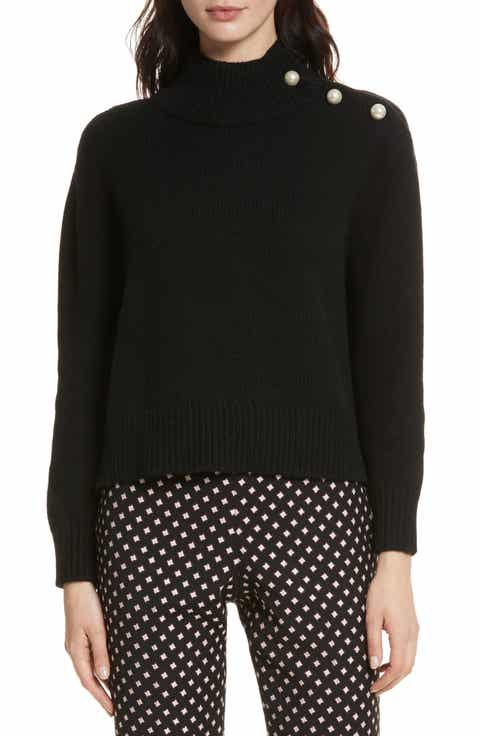 kate spade new york embellished turtleneck sweater