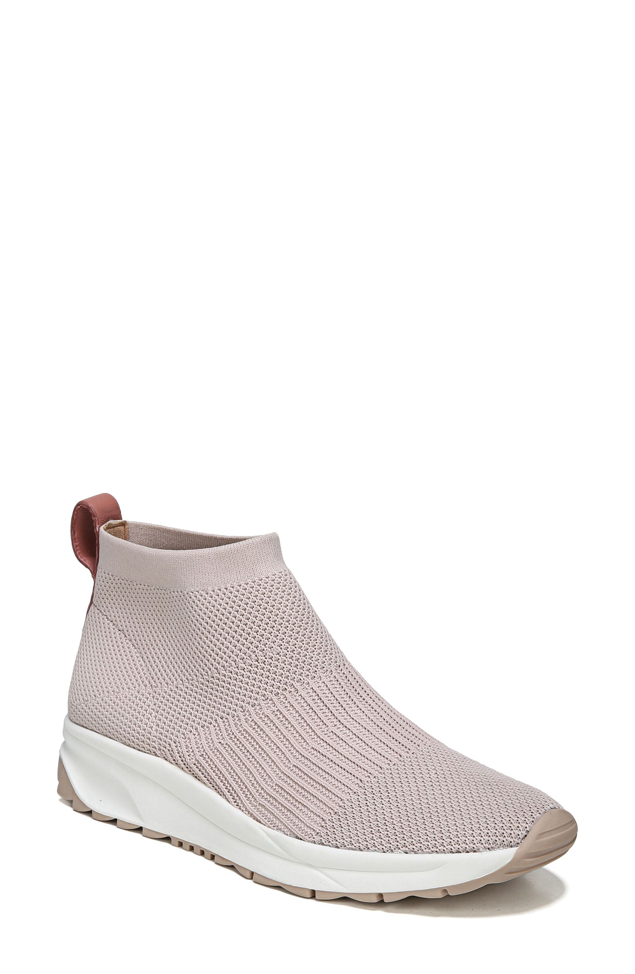 Selena Sneaker Boot,                         Main,                         color, Pink Stretch Fabric