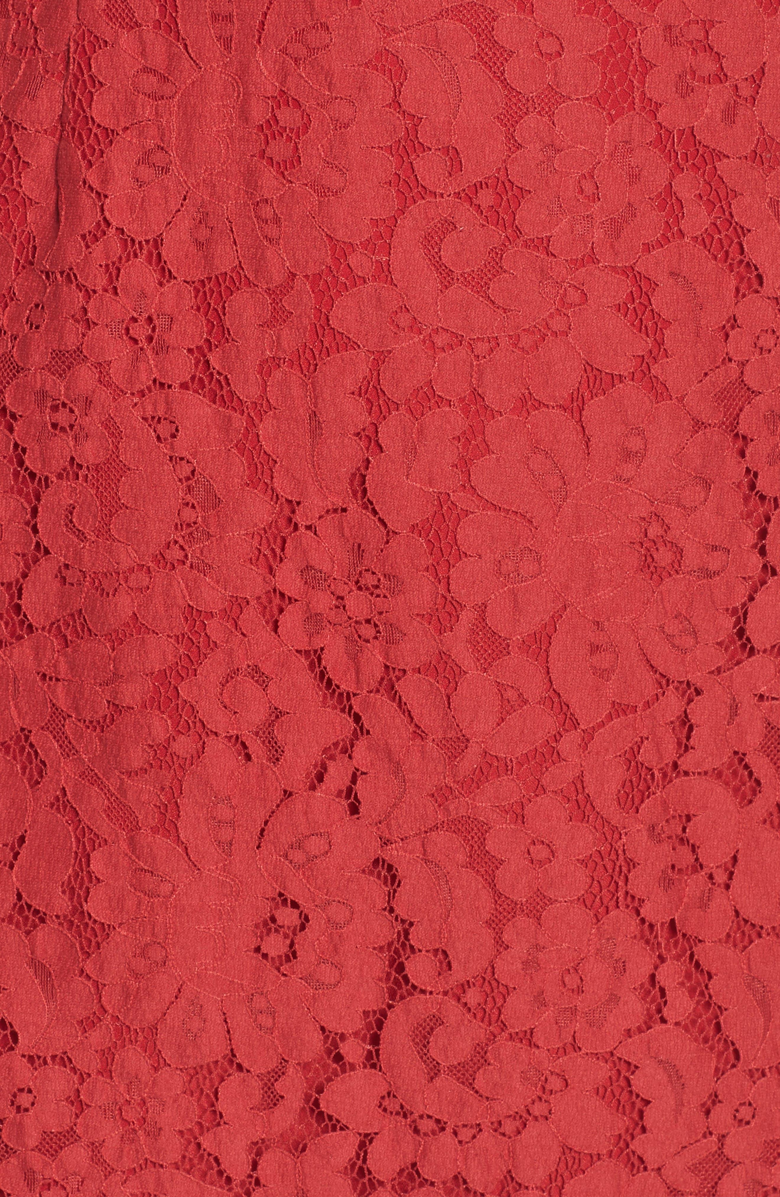 Alternate Image 5  - Keepsake the Label Butterfly Lace Cold Shoulder Dress