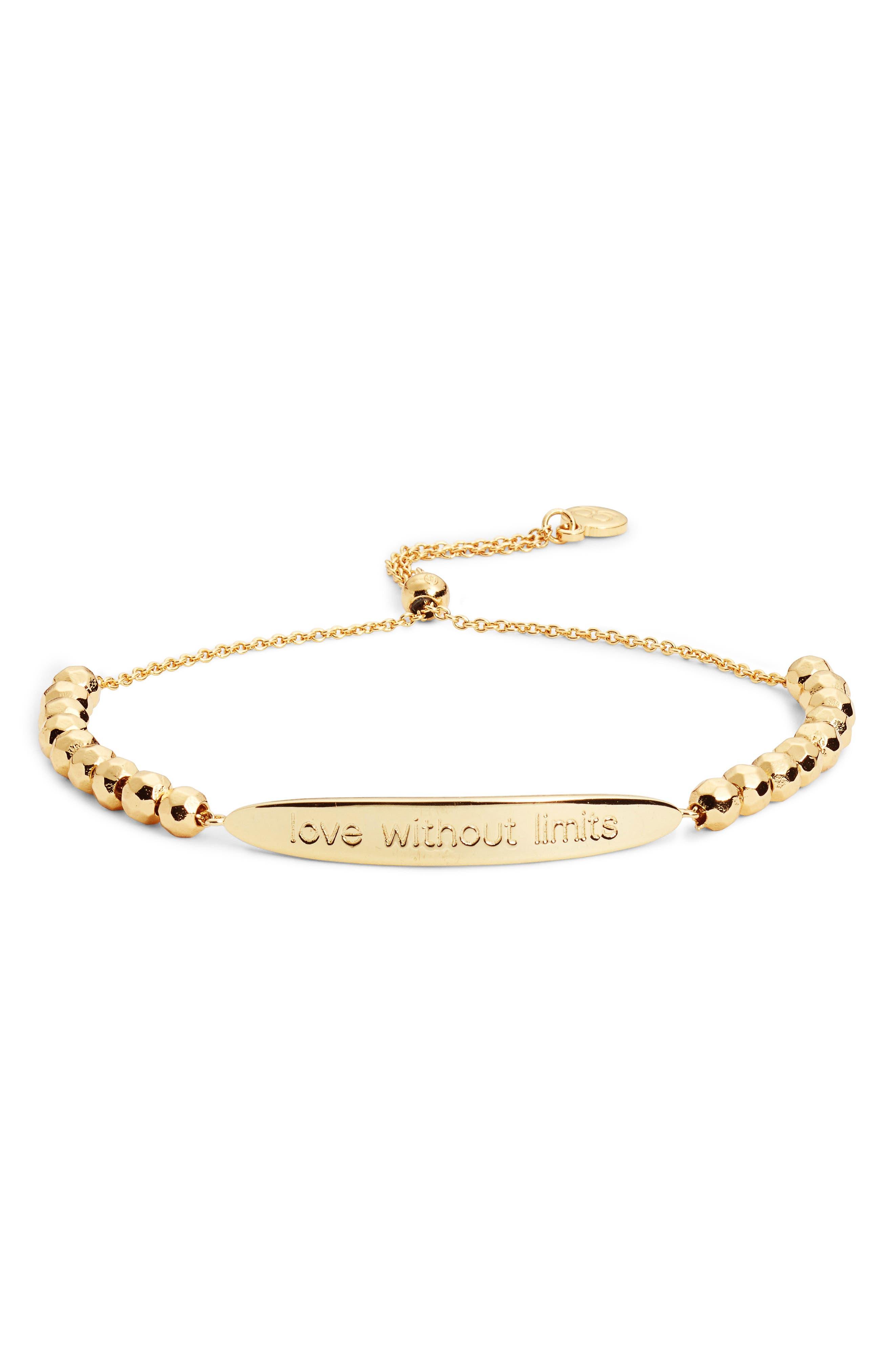 Power Intention Love without Limits Bracelet,                         Main,                         color, Gold