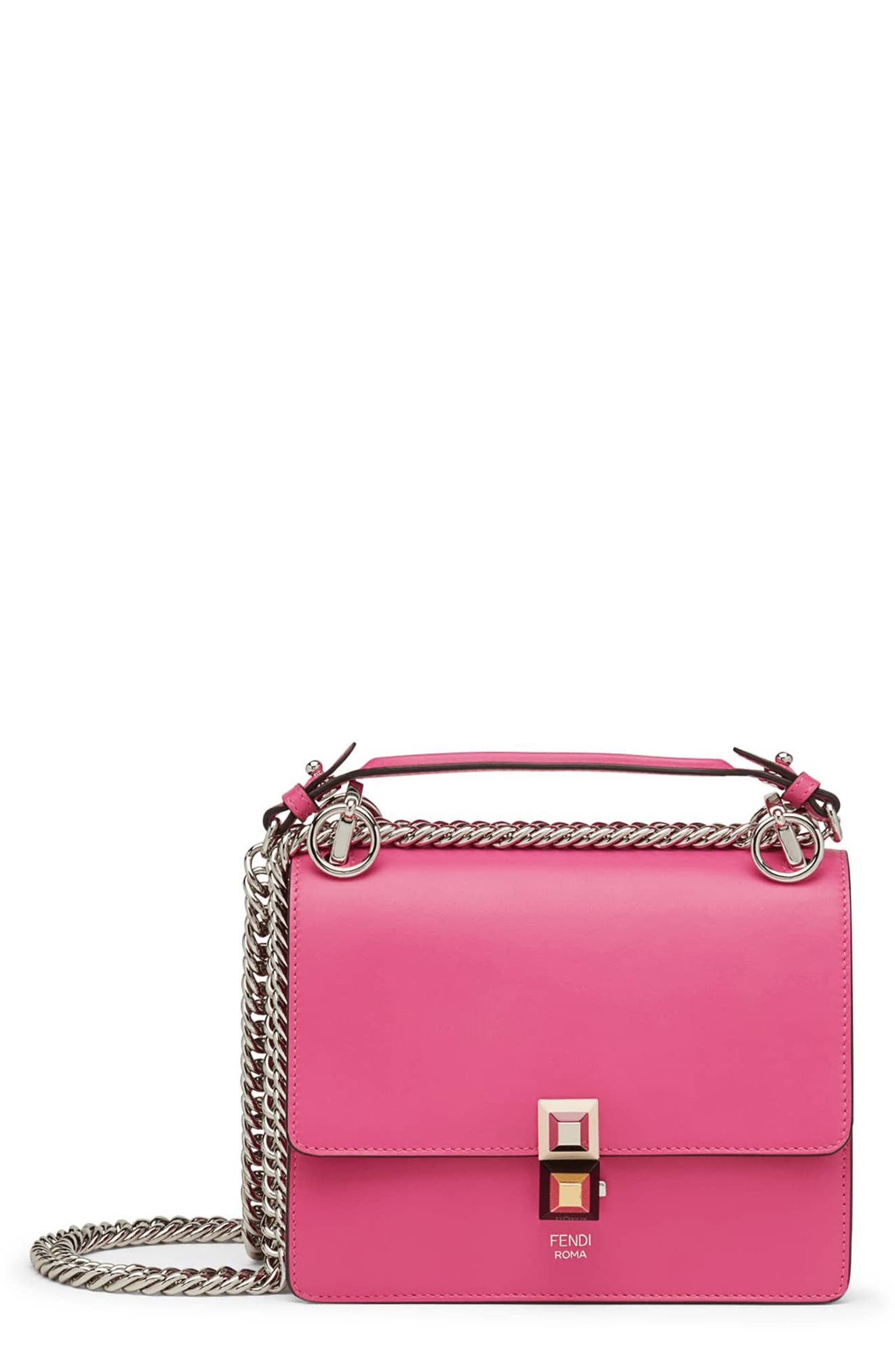 Fendi Small Kan I Leather Shoulder Bag