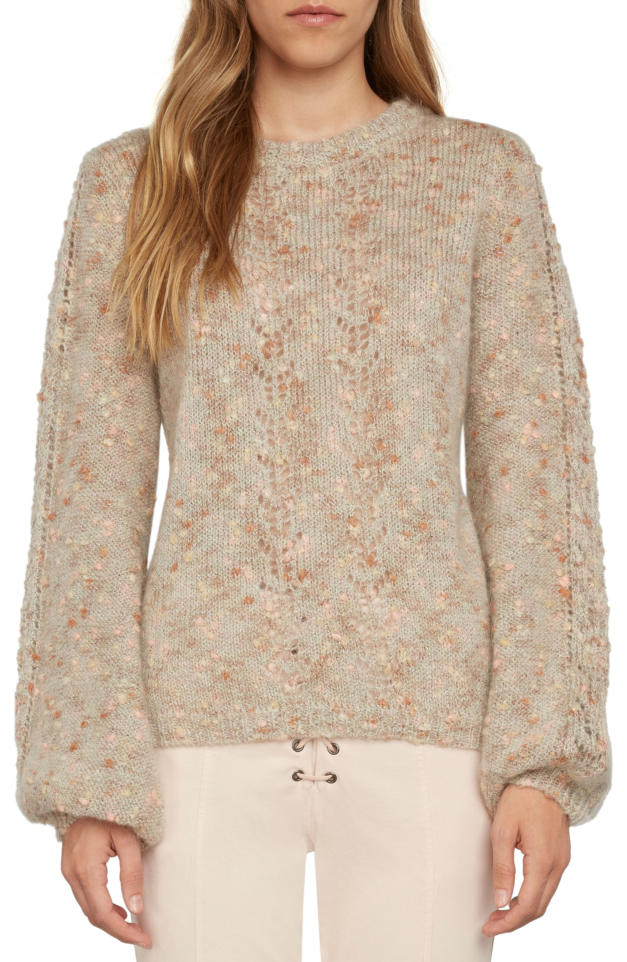 Tie Back Sweater,                         Main,                         color, Beige