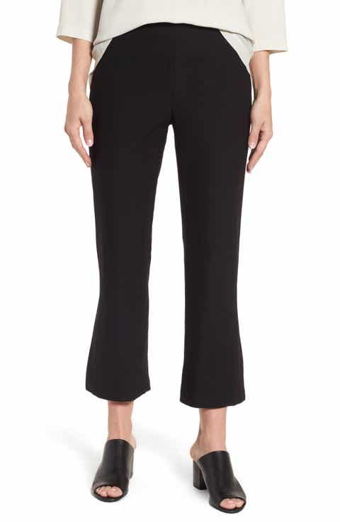 Eileen Fisher Bootcut Crop Pants (Regular & Petite)
