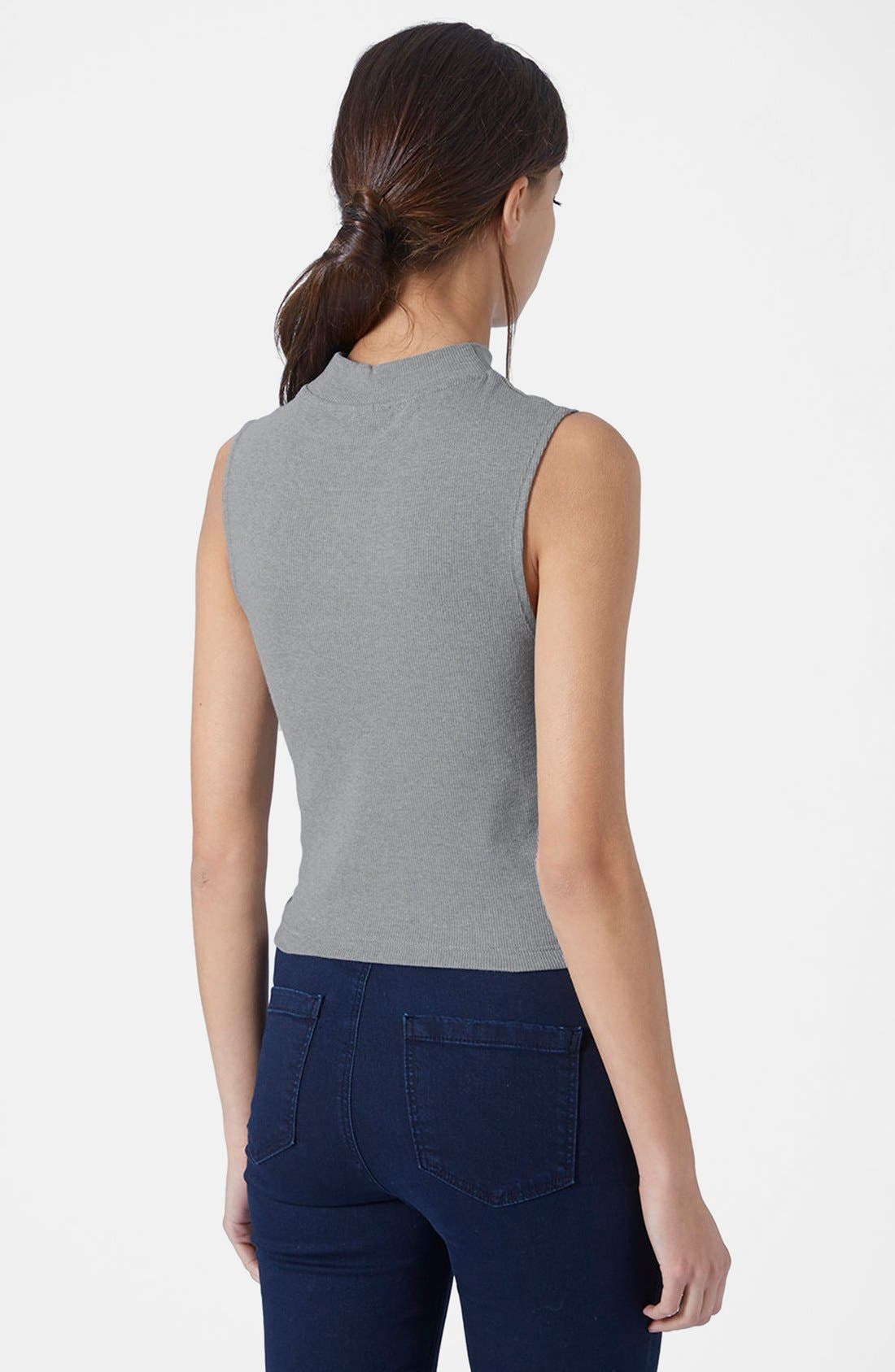Alternate Image 2  - Topshop Sleeveless Funnel Top
