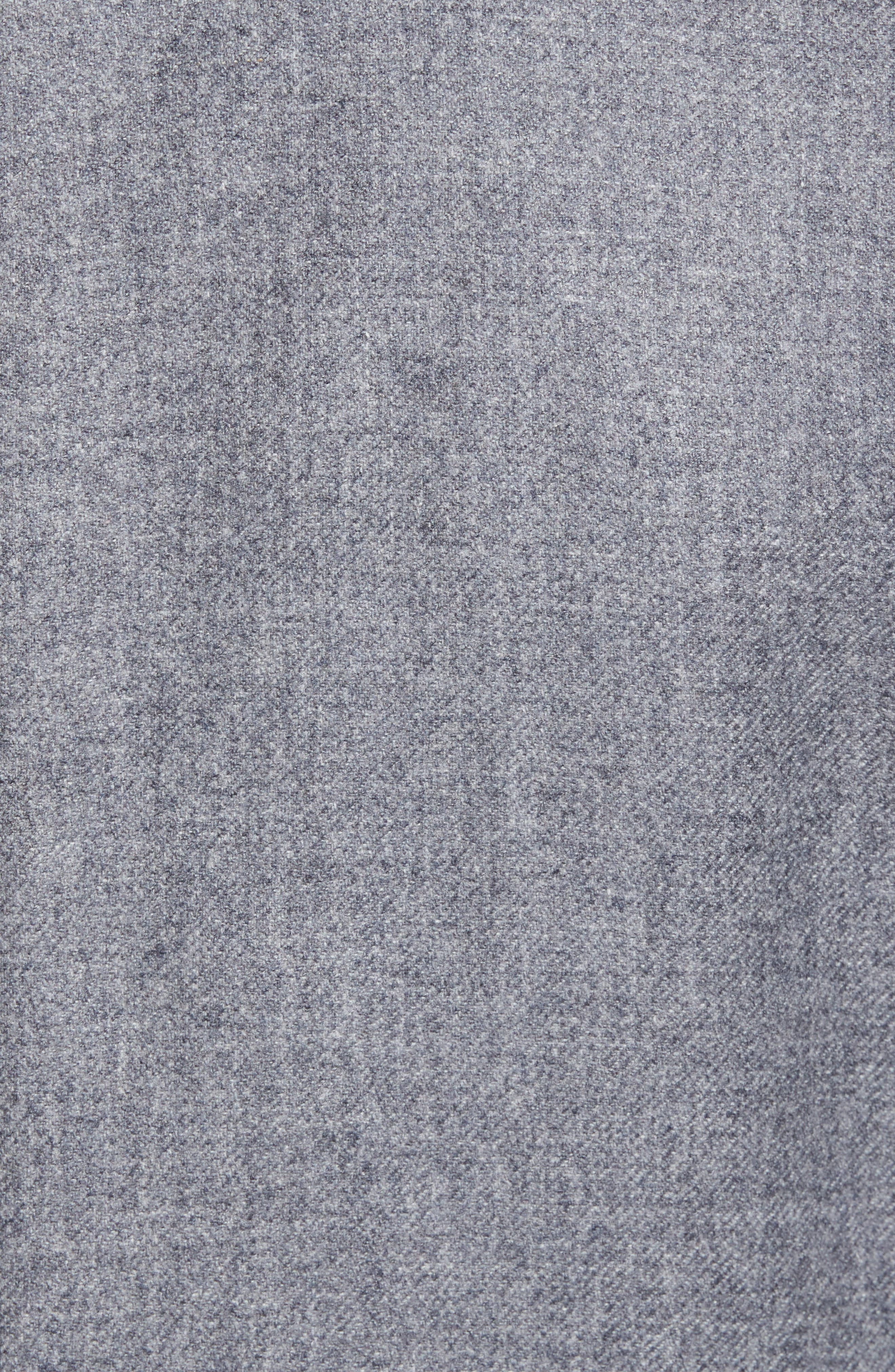 Classic B Fit Wool & Cashmere Blazer,                             Alternate thumbnail 5, color,                             Light Grey Solid