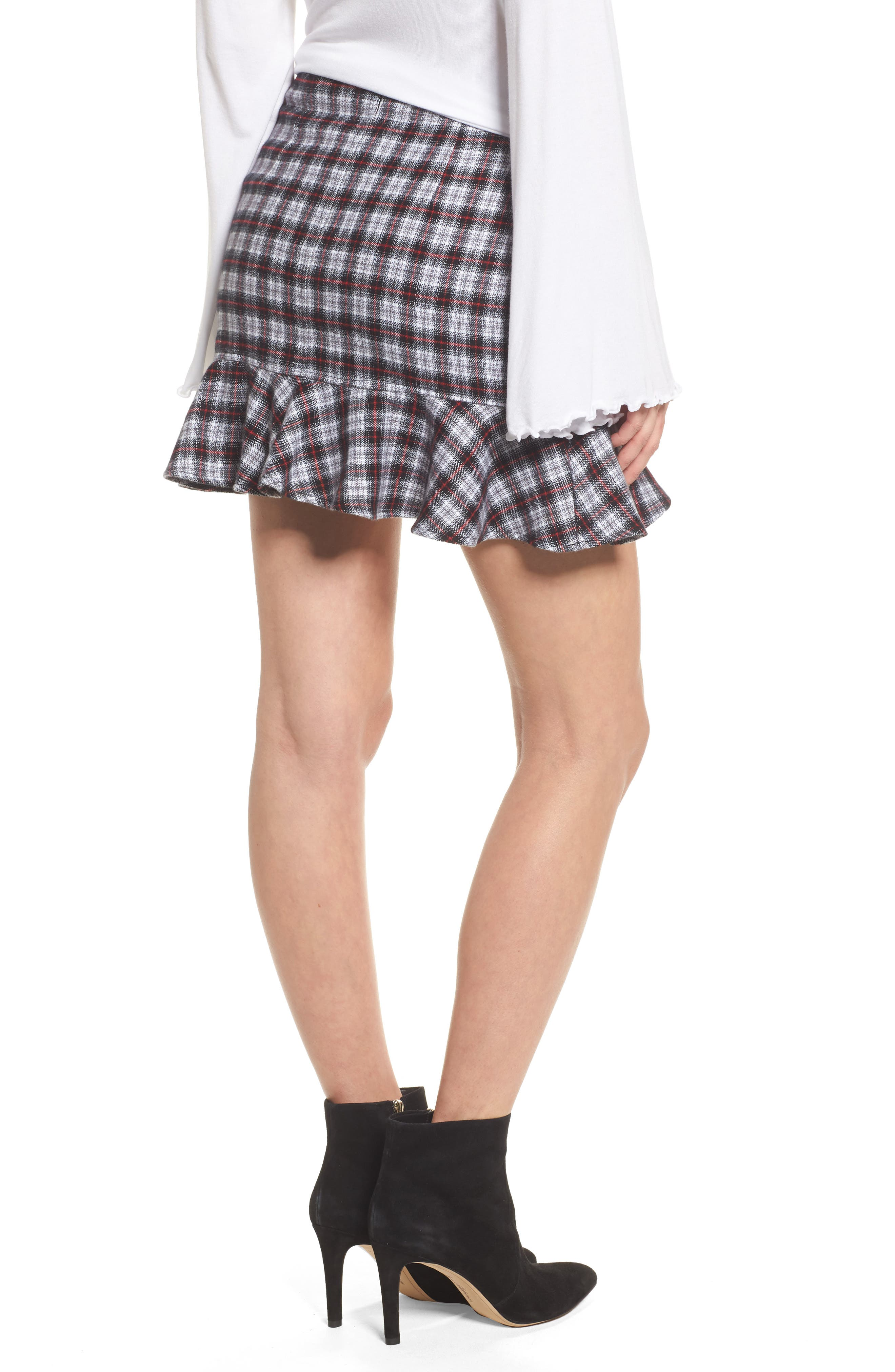 Dominic Asymmetrical Ruffle Skirt,                             Alternate thumbnail 2, color,                             Multi Flannel