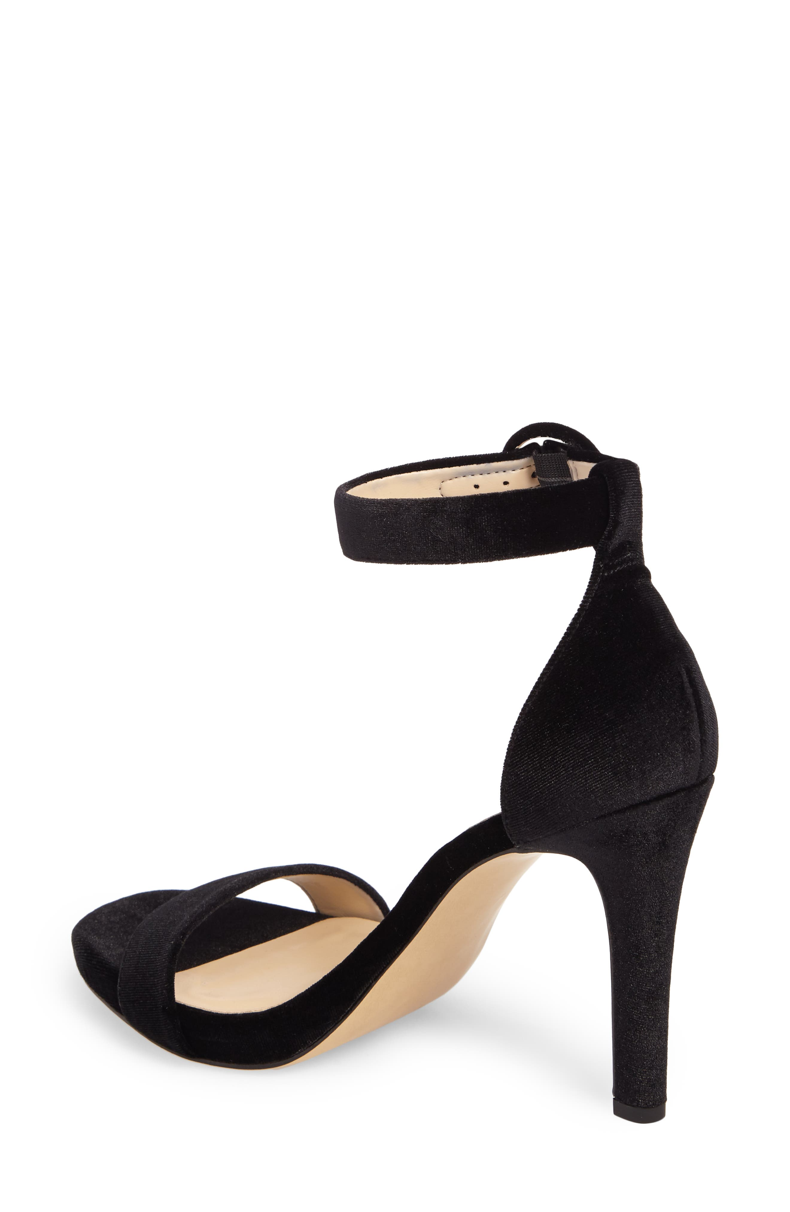 Emelia Ankle Strap Sandal,                             Alternate thumbnail 2, color,                             Black
