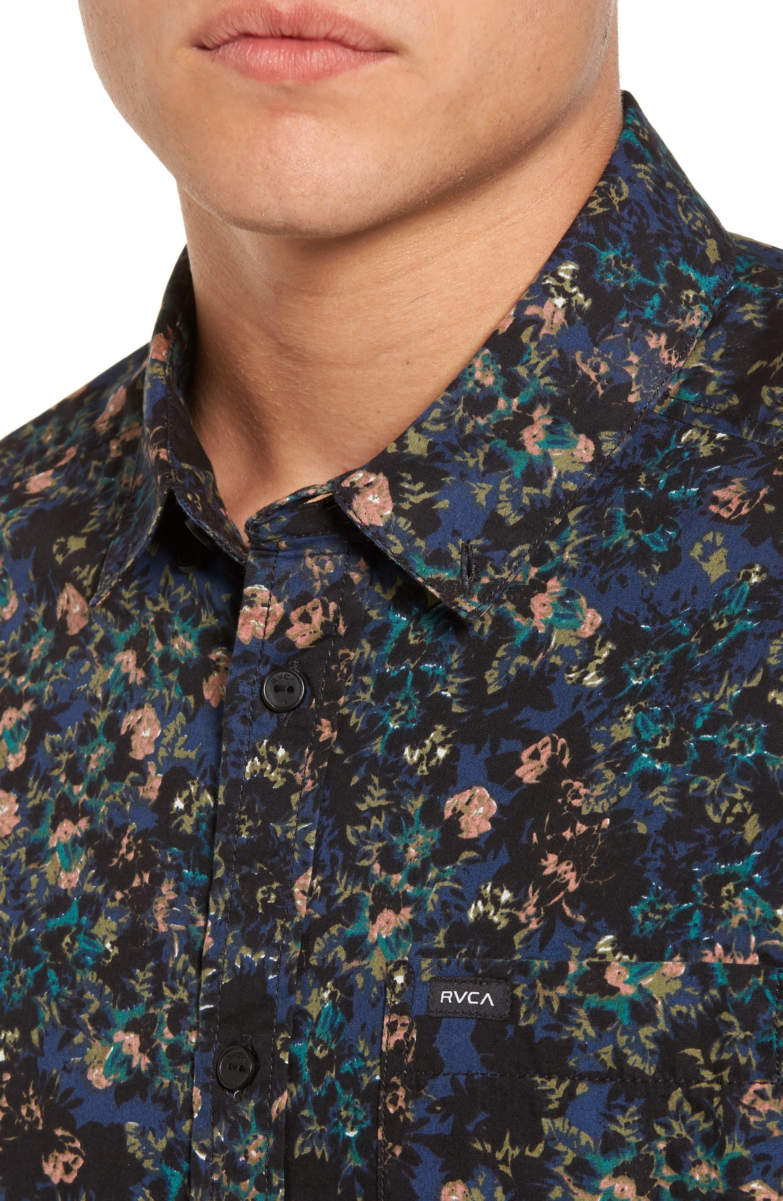 Control Woven Shirt,                             Alternate thumbnail 4, color,                             Blue