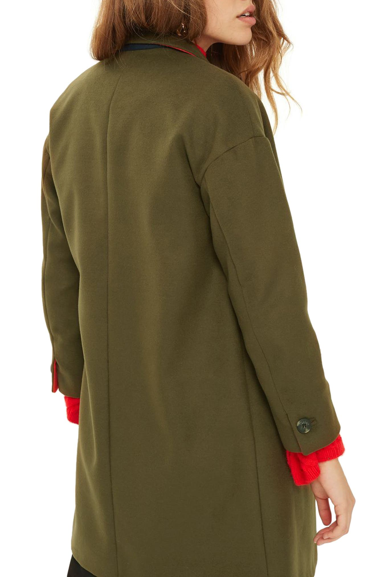 Alternate Image 2  - Topshop Millie Relaxed Fit Coat