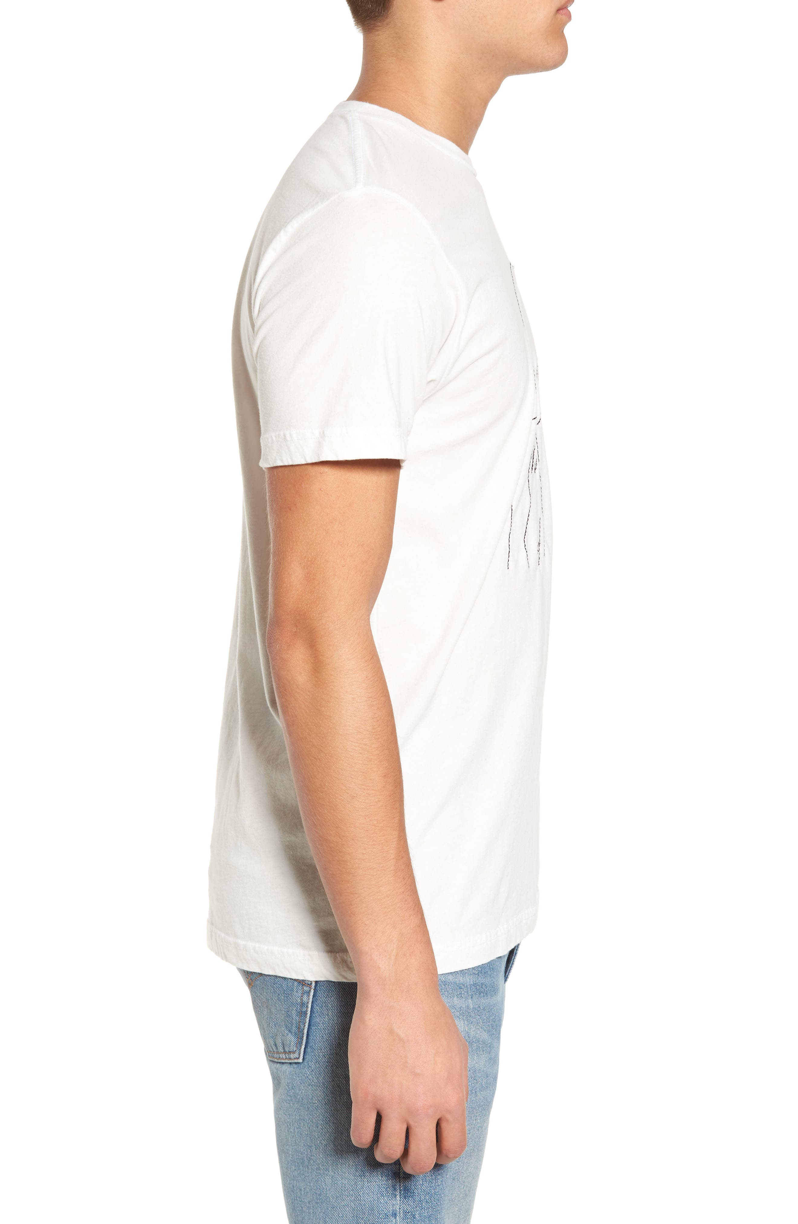 Kate Embroidered T-Shirt,                             Alternate thumbnail 3, color,                             White