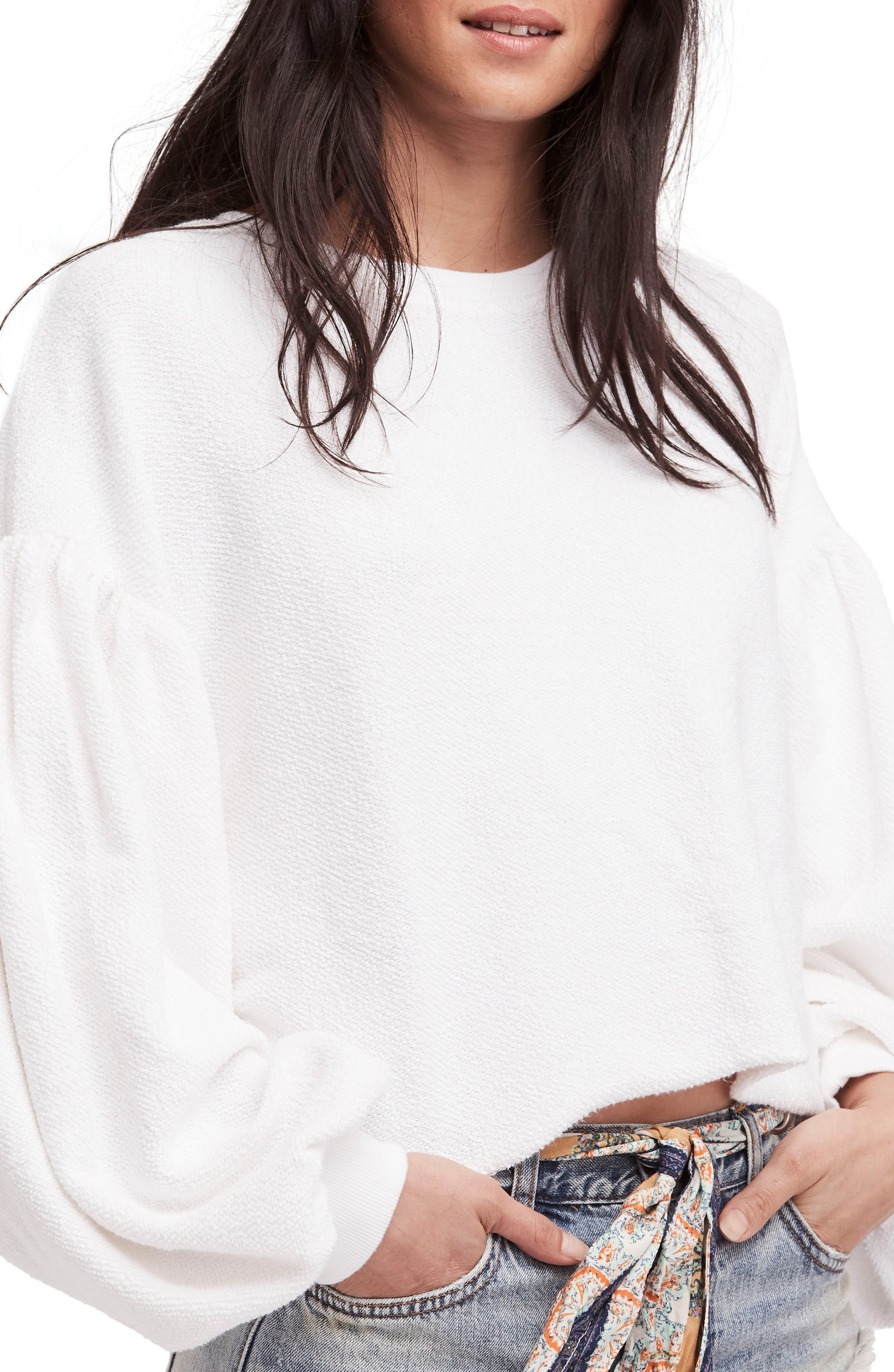 Sleeves like These Sweater,                             Main thumbnail 1, color,                             White
