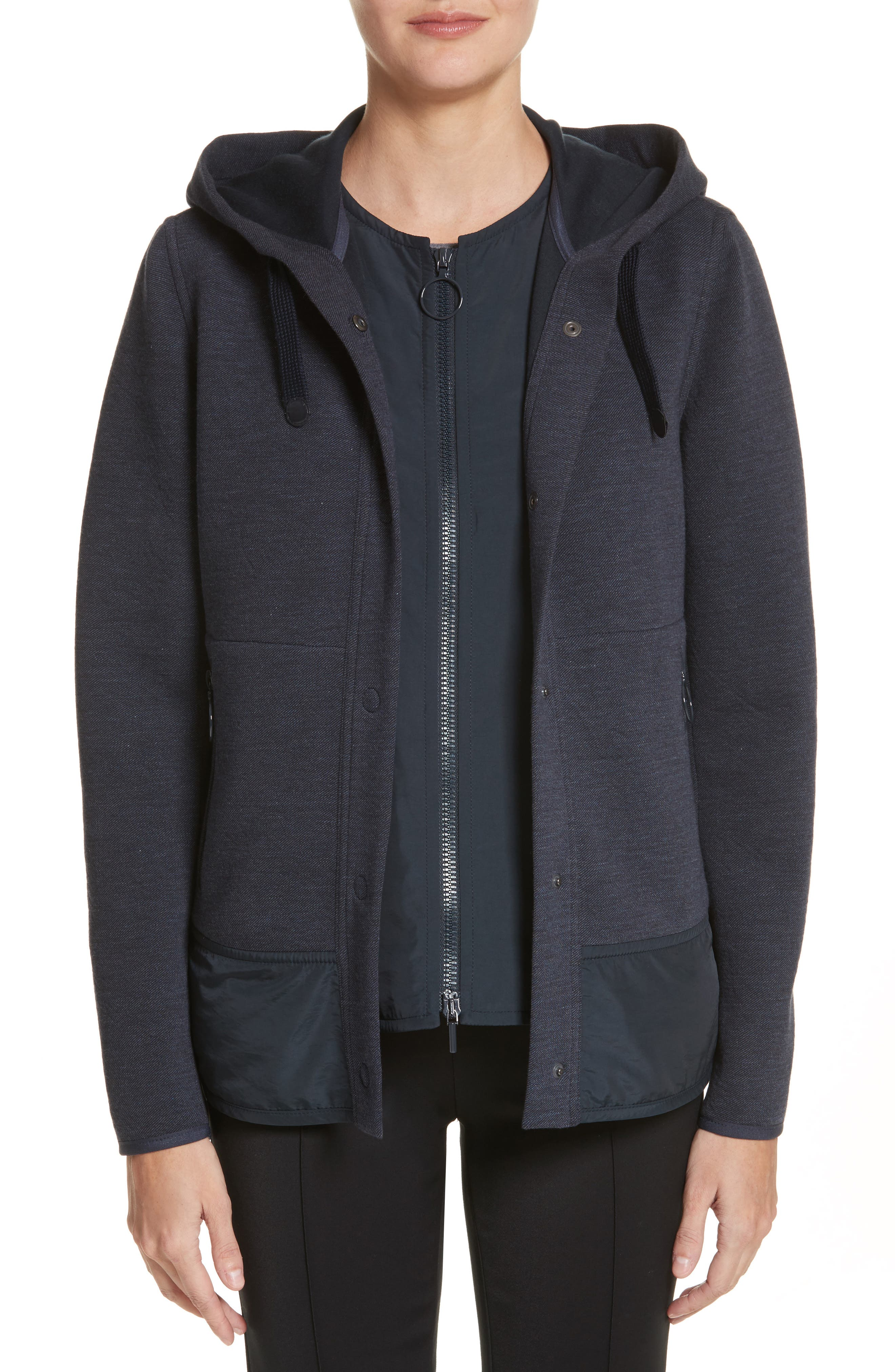 Two-Piece Hooded Jacket,                             Main thumbnail 1, color,                             Indigo