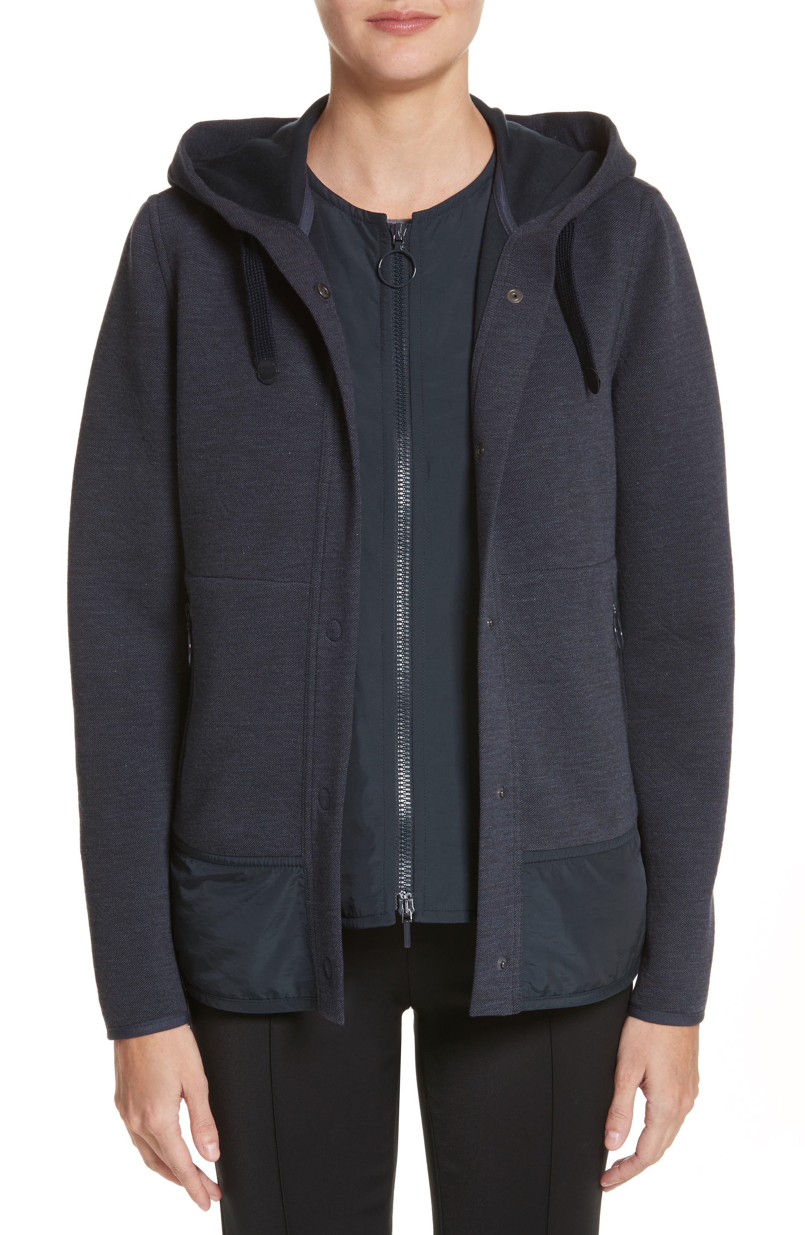 Two-Piece Hooded Jacket,                         Main,                         color, Indigo